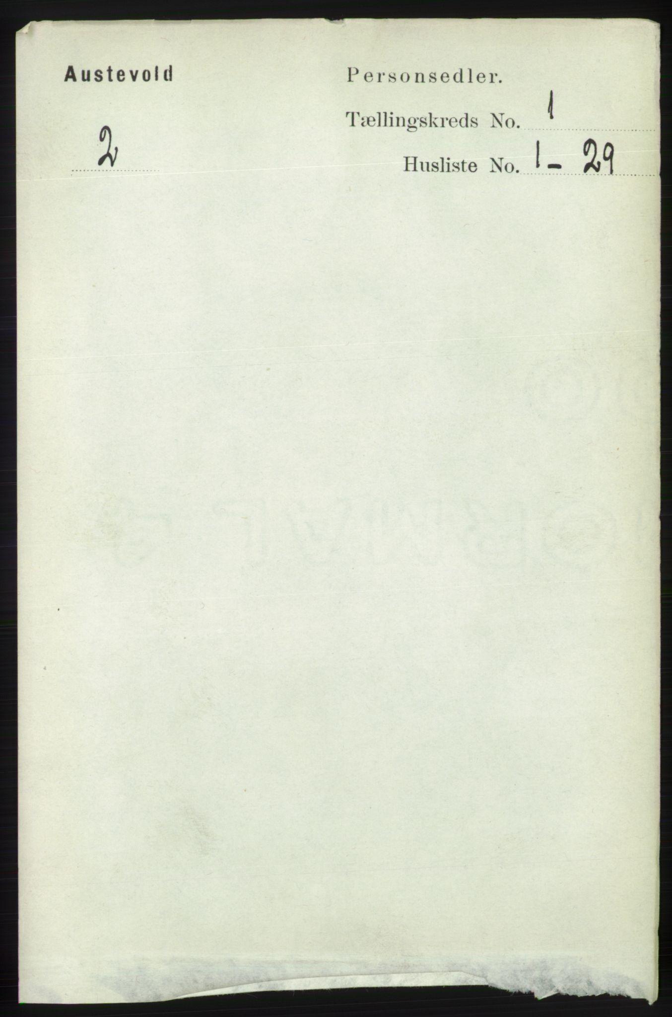 RA, Folketelling 1891 for 1244 Austevoll herred, 1891, s. 97