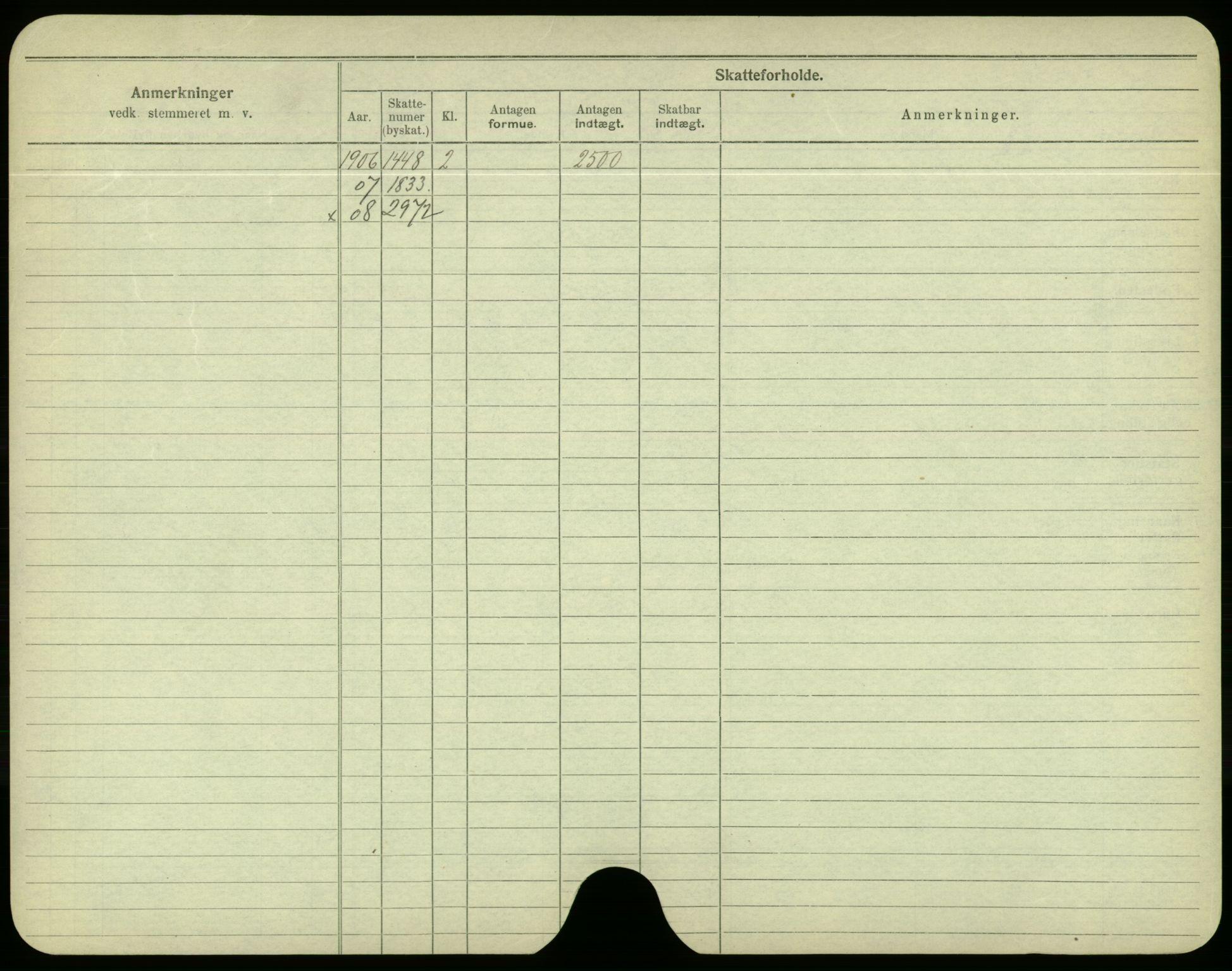 SAO, Oslo folkeregister, Registerkort, F/Fa/Fac/L0003: Menn, 1906-1914, s. 1225b