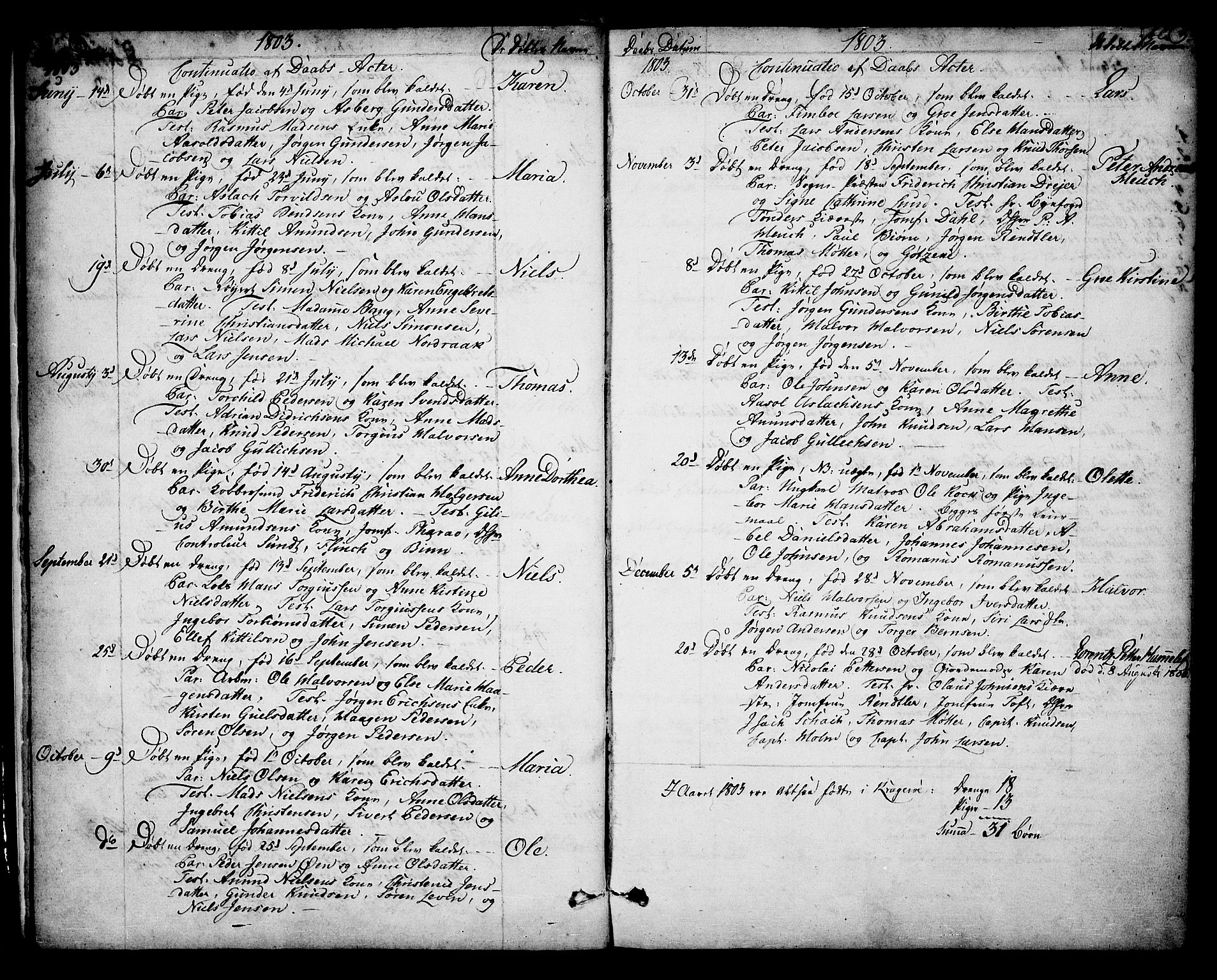 SAKO, Kragerø kirkebøker, F/Fa/L0003: Ministerialbok nr. 3, 1802-1813, s. 3