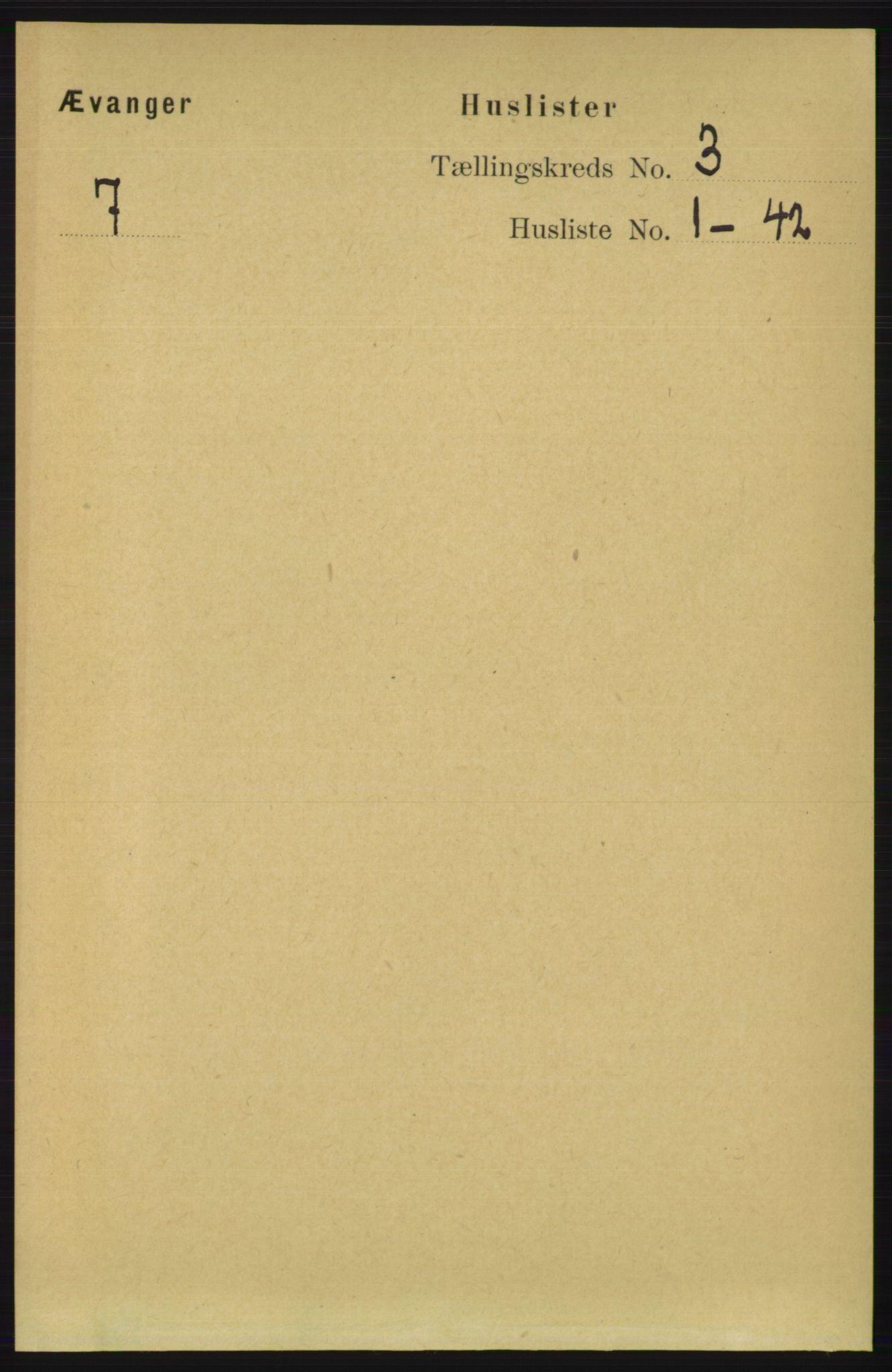 RA, Folketelling 1891 for 1237 Evanger herred, 1891, s. 808