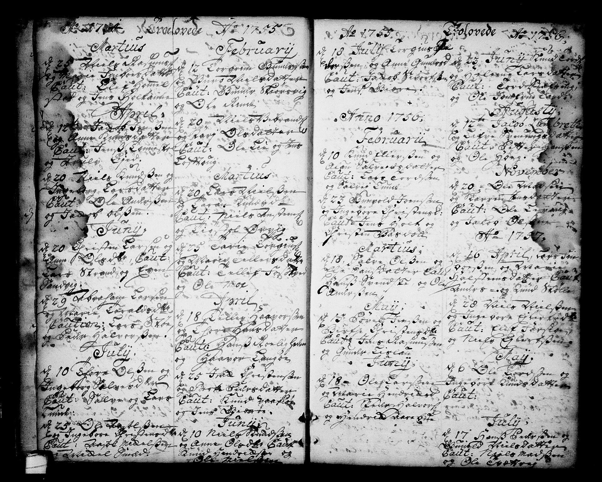 SAKO, Sannidal kirkebøker, F/Fa/L0001: Ministerialbok nr. 1, 1702-1766, s. 24-25