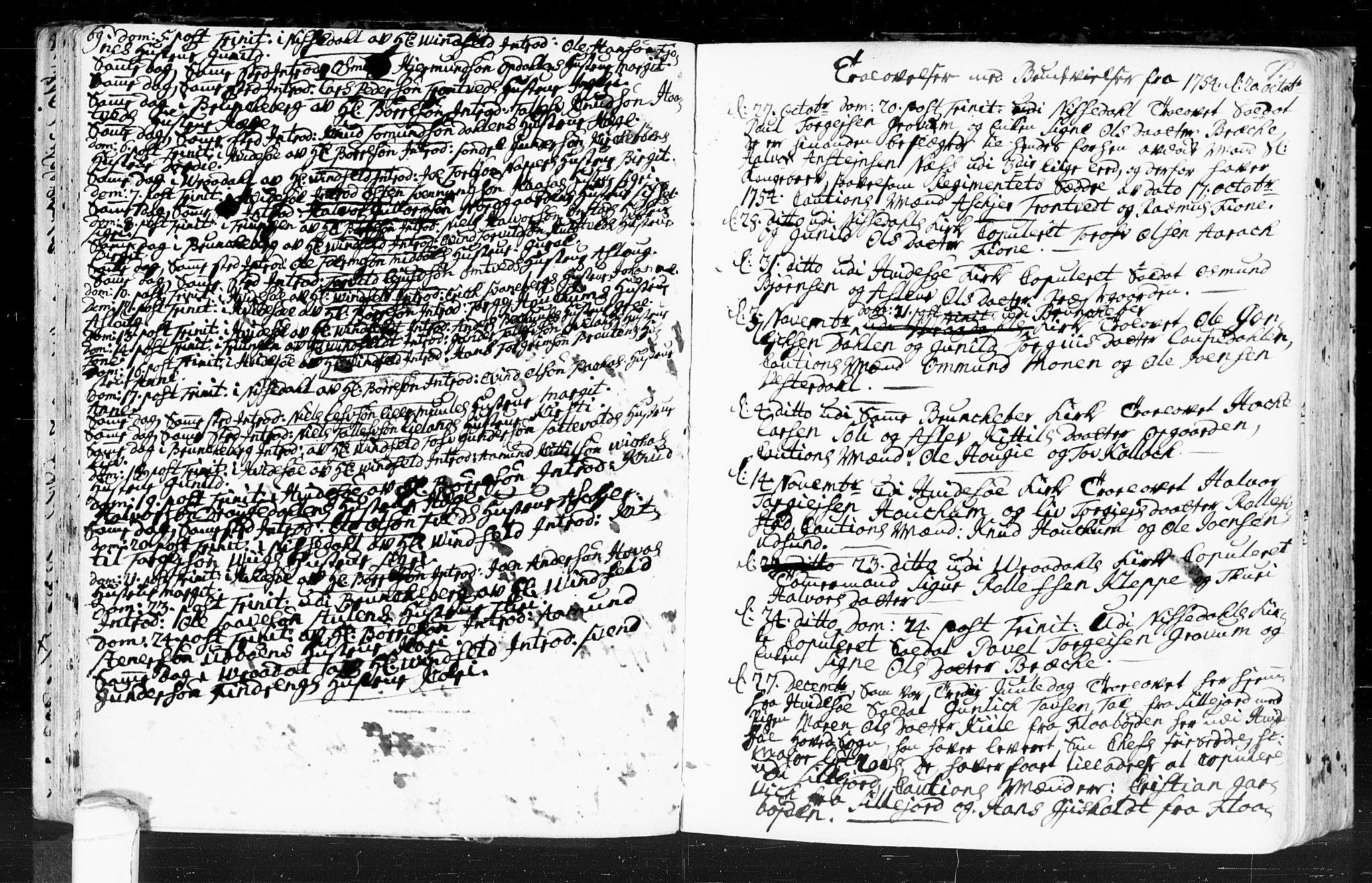 SAKO, Kviteseid kirkebøker, F/Fa/L0001: Ministerialbok nr. I 1, 1754-1773, s. 69-70