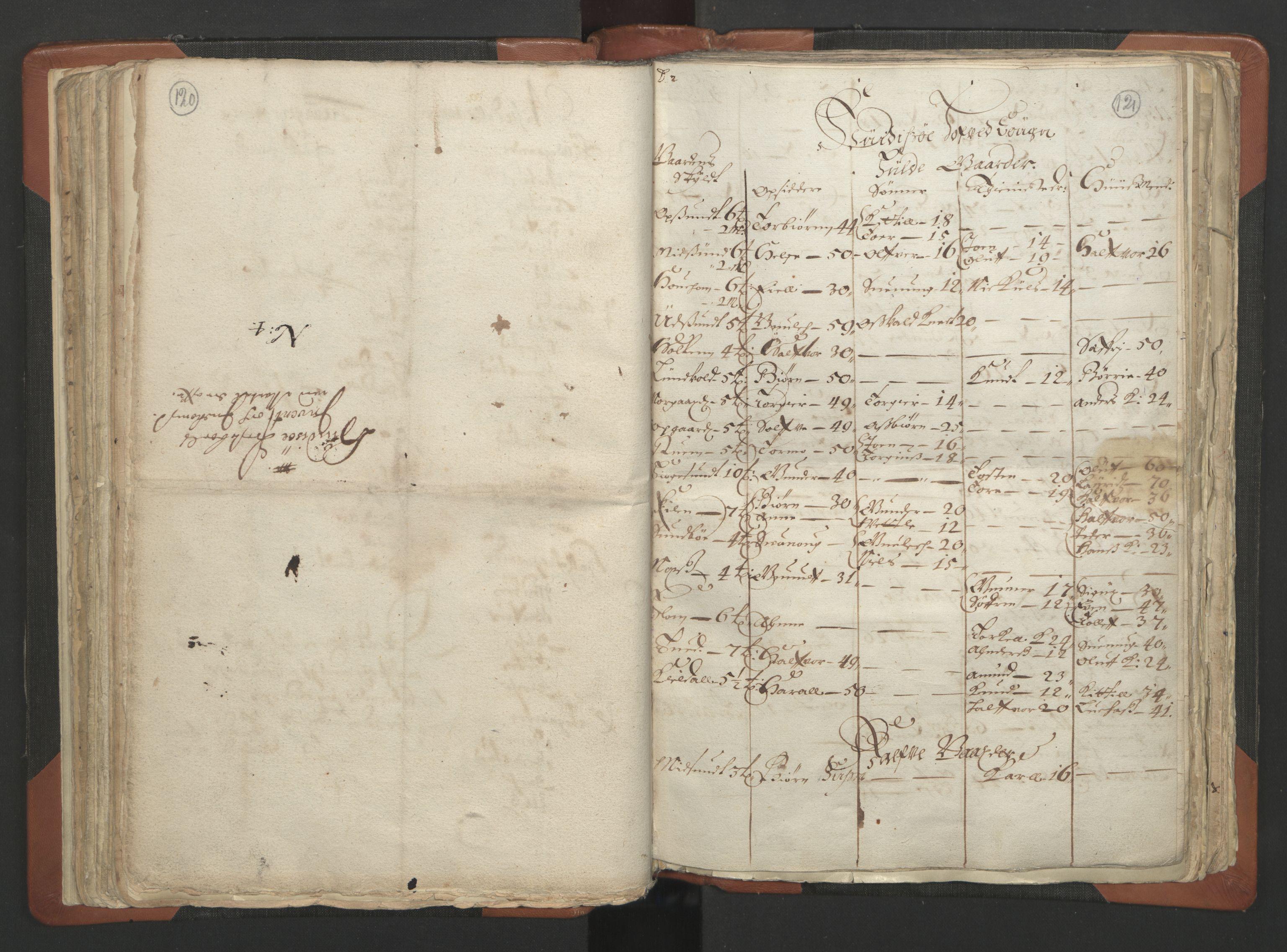 RA, Sogneprestenes manntall 1664-1666, nr. 12: Øvre Telemark prosti, Nedre Telemark prosti og Bamble prosti, 1664-1666, s. 120-121