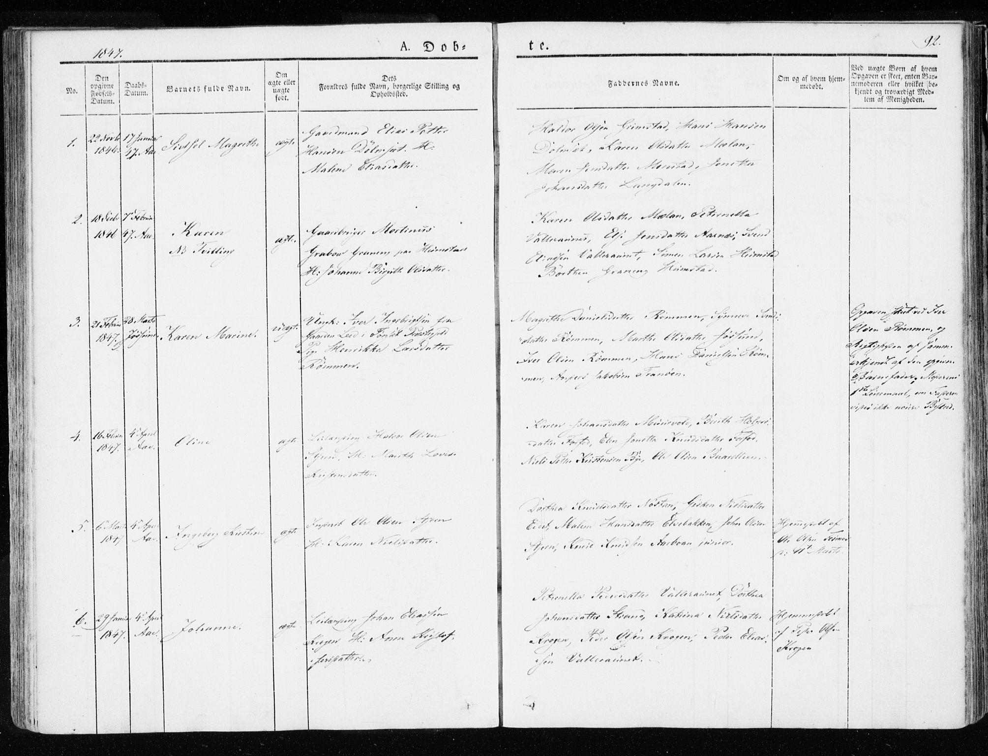 SAT, Ministerialprotokoller, klokkerbøker og fødselsregistre - Sør-Trøndelag, 655/L0676: Ministerialbok nr. 655A05, 1830-1847, s. 92