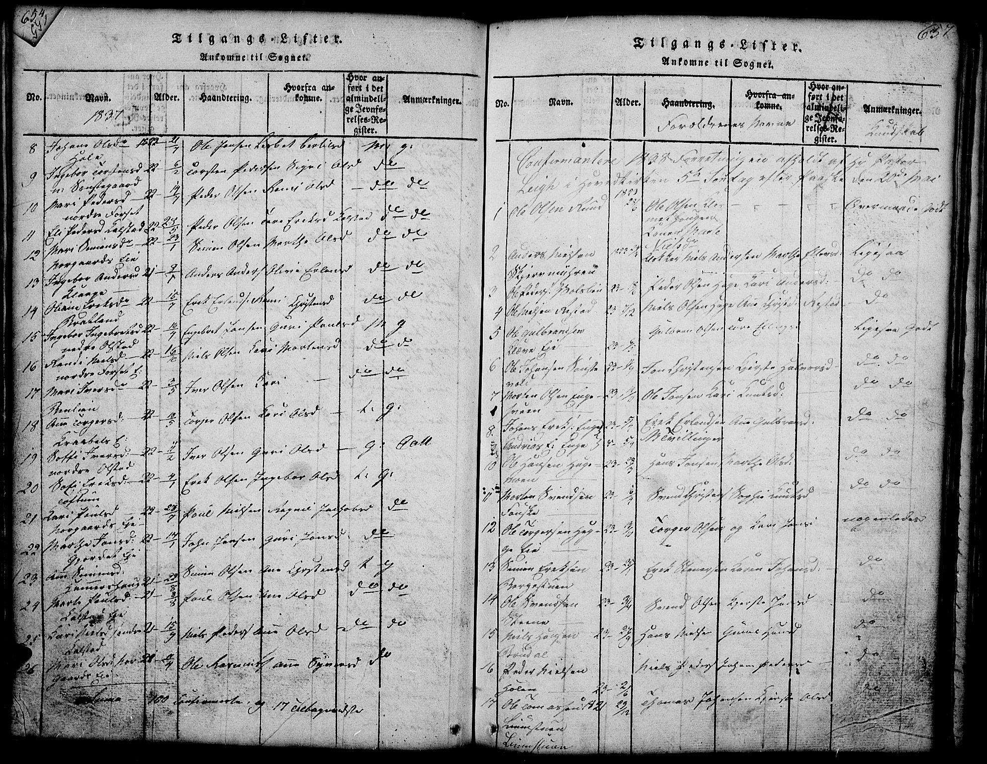 SAH, Gausdal prestekontor, Klokkerbok nr. 1, 1817-1848, s. 656-657