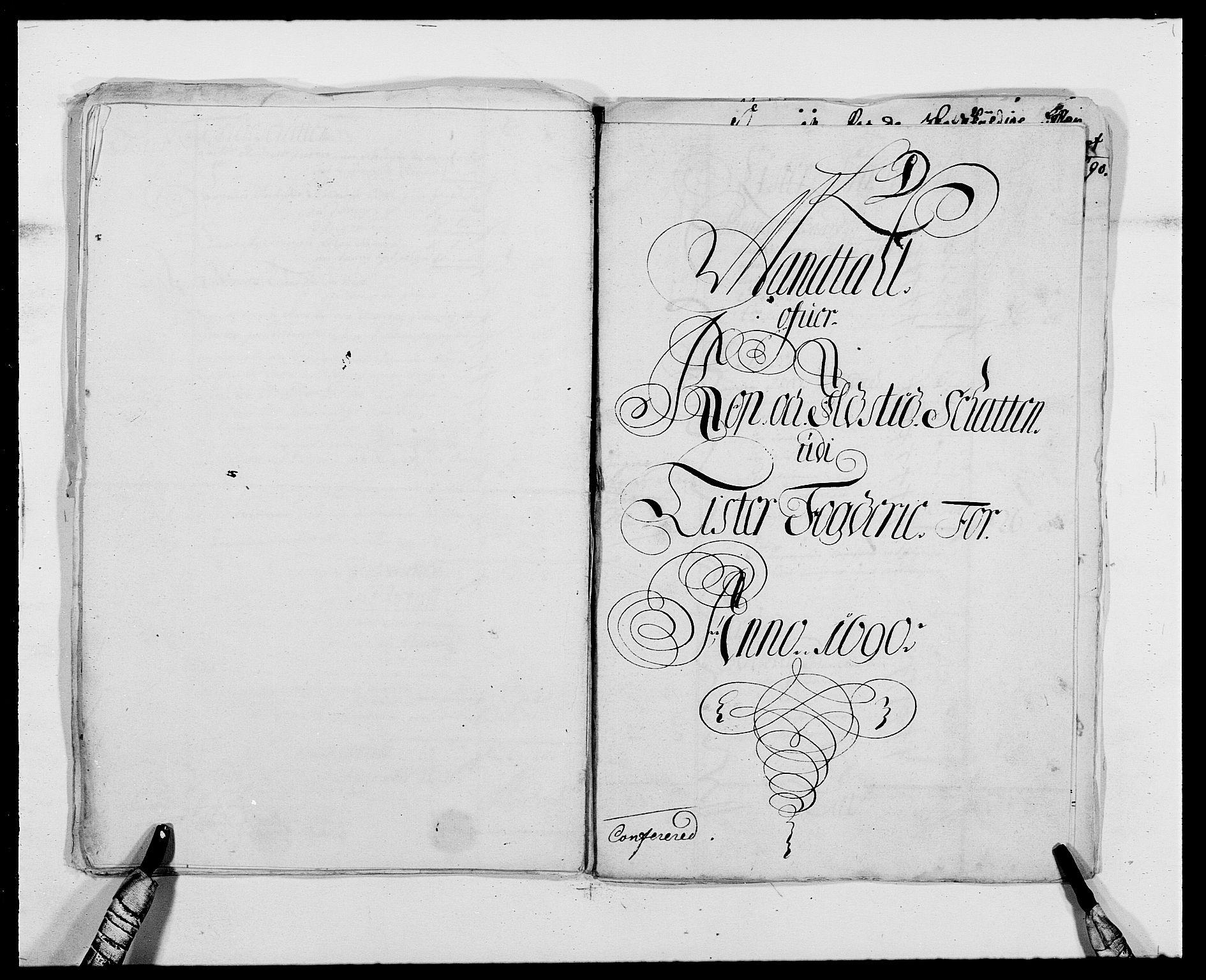 RA, Rentekammeret inntil 1814, Reviderte regnskaper, Fogderegnskap, R41/L2536: Fogderegnskap Lista, 1690-1693, s. 48