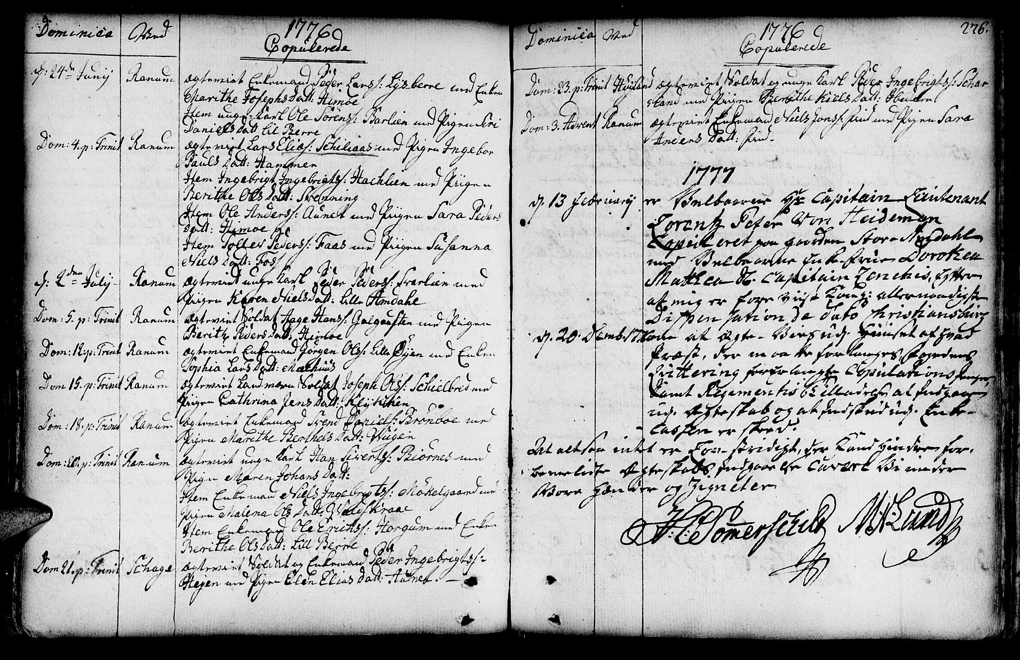 SAT, Ministerialprotokoller, klokkerbøker og fødselsregistre - Nord-Trøndelag, 764/L0542: Ministerialbok nr. 764A02, 1748-1779, s. 276