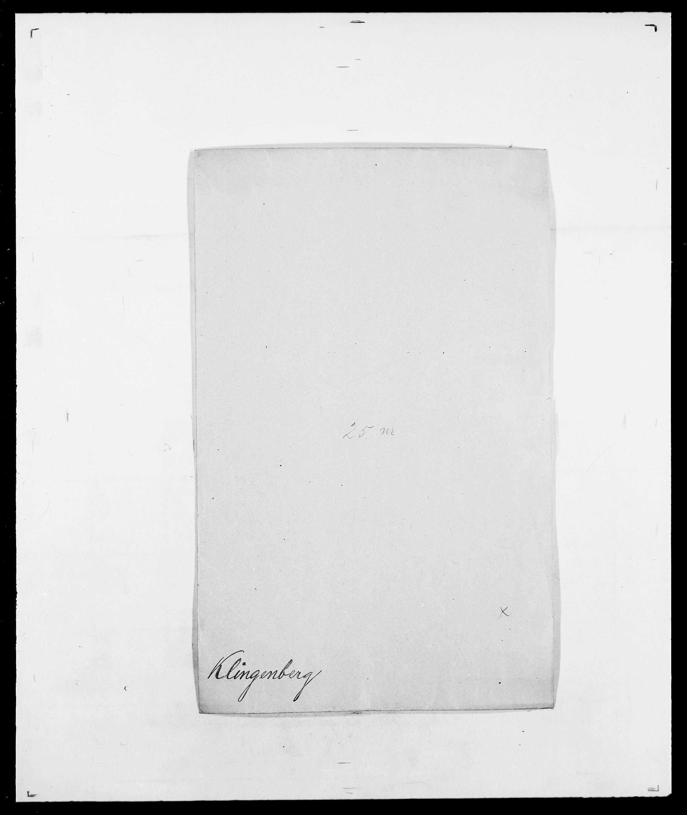 SAO, Delgobe, Charles Antoine - samling, D/Da/L0021: Klagenberg - Kristoft, s. 93