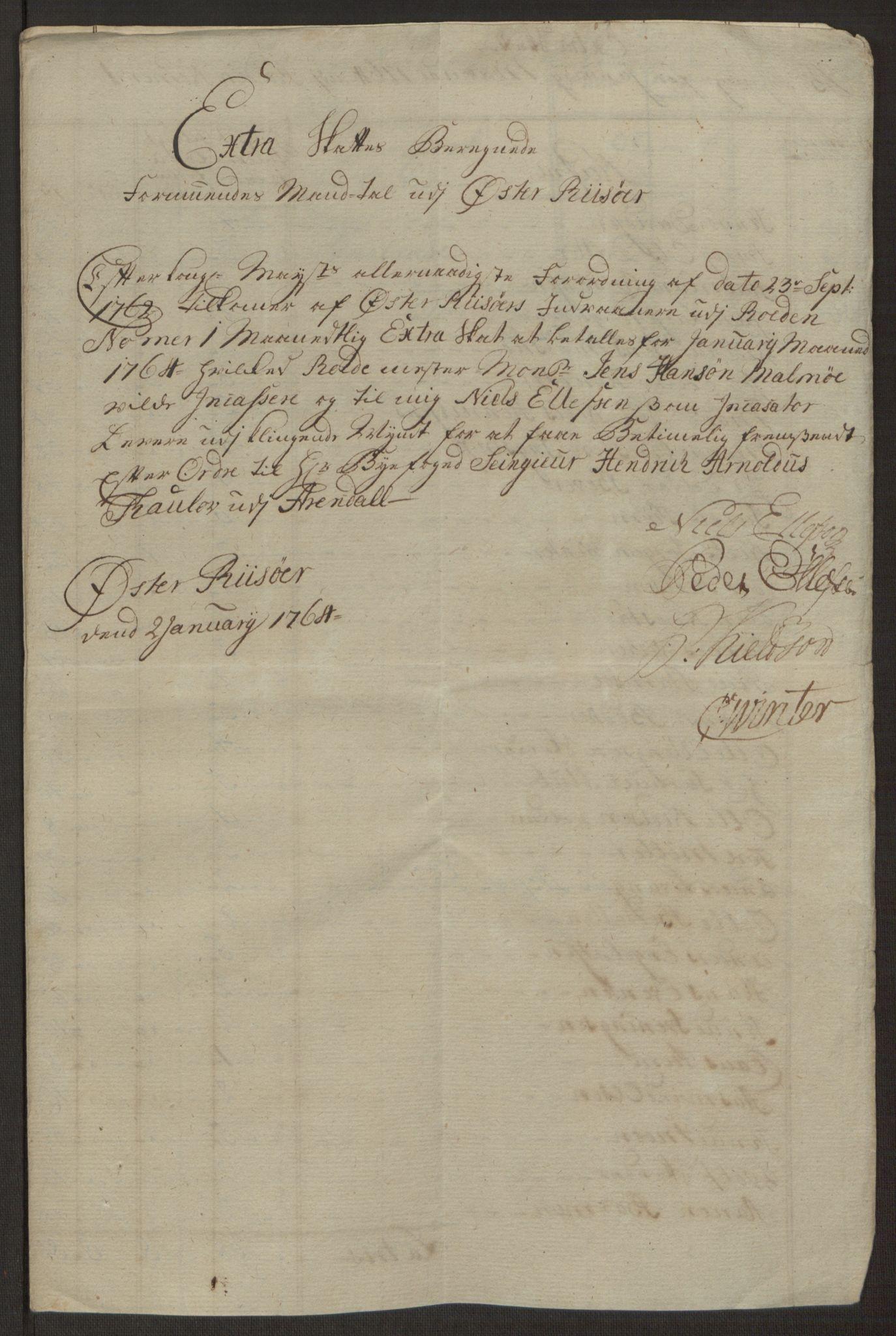RA, Rentekammeret inntil 1814, Reviderte regnskaper, Byregnskaper, R/Rl/L0230: [L4] Kontribusjonsregnskap, 1762-1764, s. 422