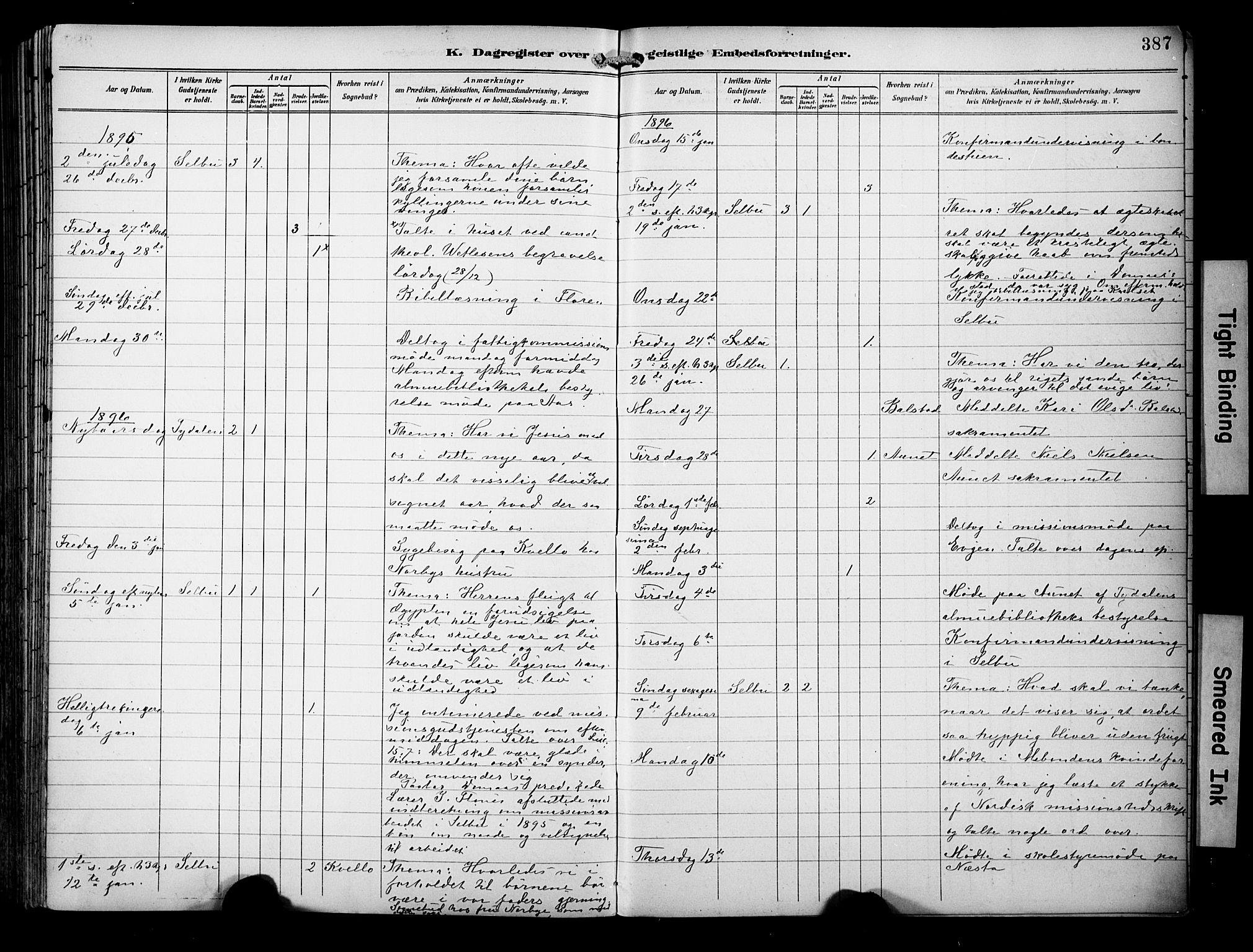 SAT, Ministerialprotokoller, klokkerbøker og fødselsregistre - Sør-Trøndelag, 695/L1149: Ministerialbok nr. 695A09, 1891-1902, s. 387