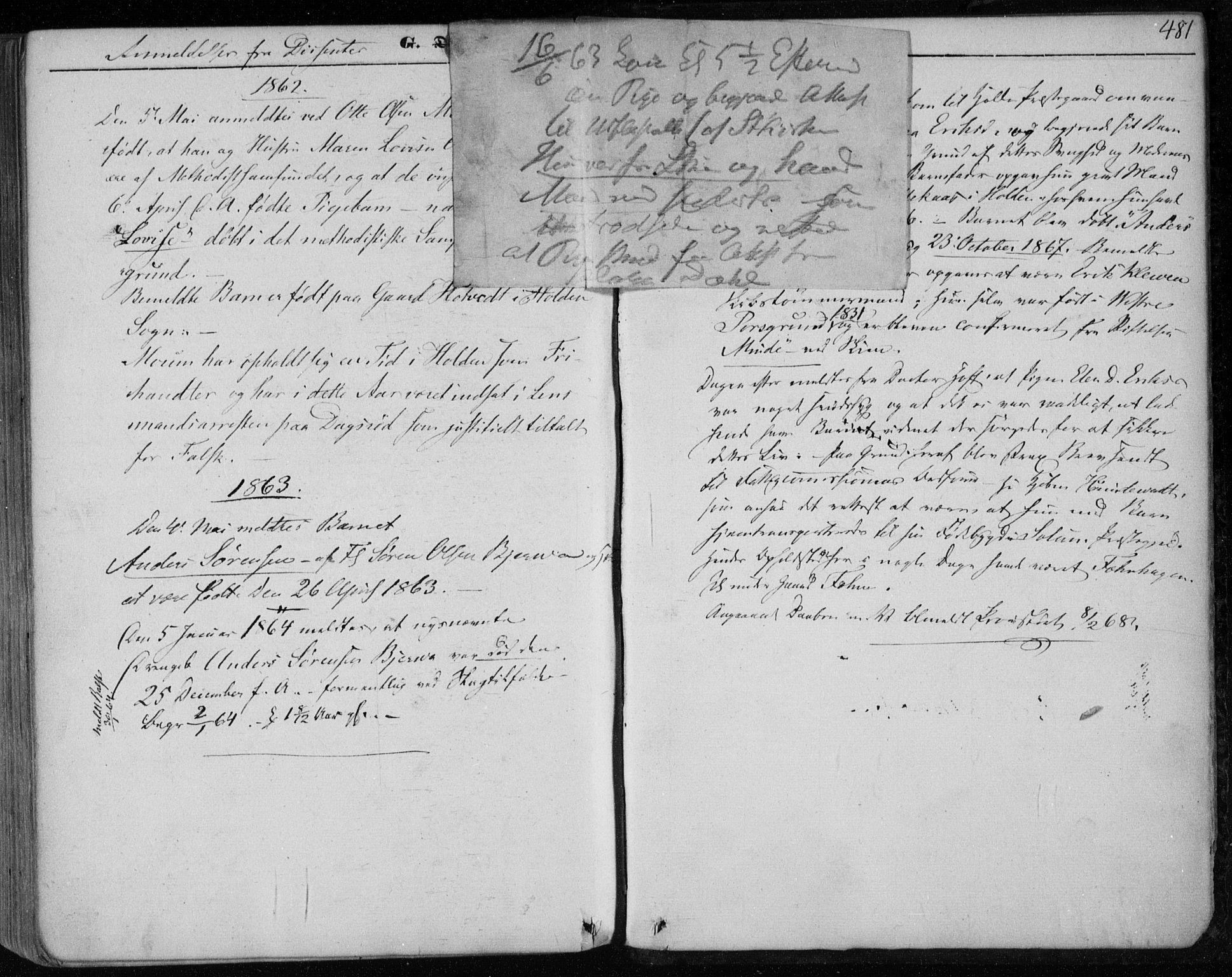 SAKO, Holla kirkebøker, F/Fa/L0005: Ministerialbok nr. 5, 1849-1860, s. 481