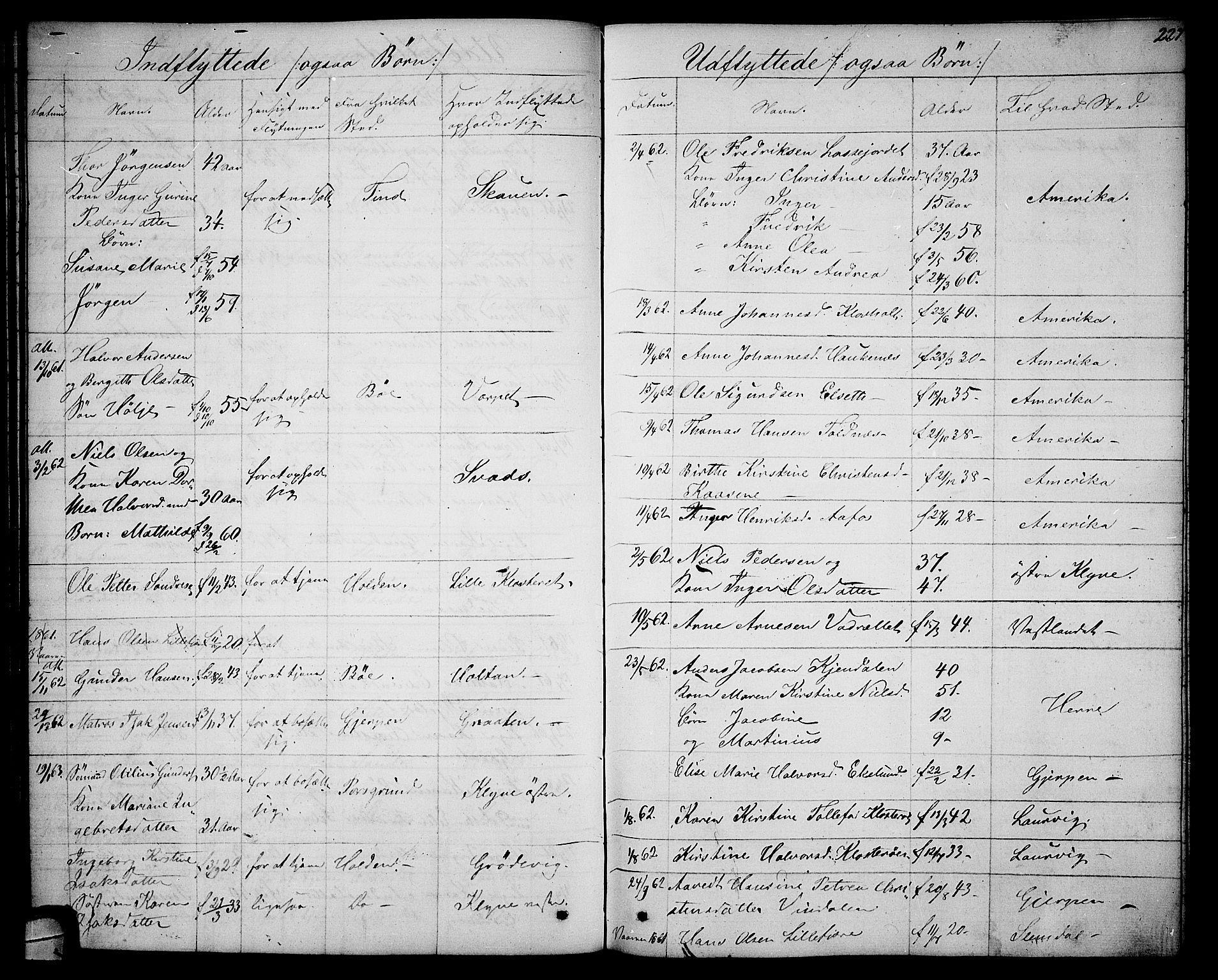 SAKO, Solum kirkebøker, G/Ga/L0004: Klokkerbok nr. I 4, 1859-1876, s. 227