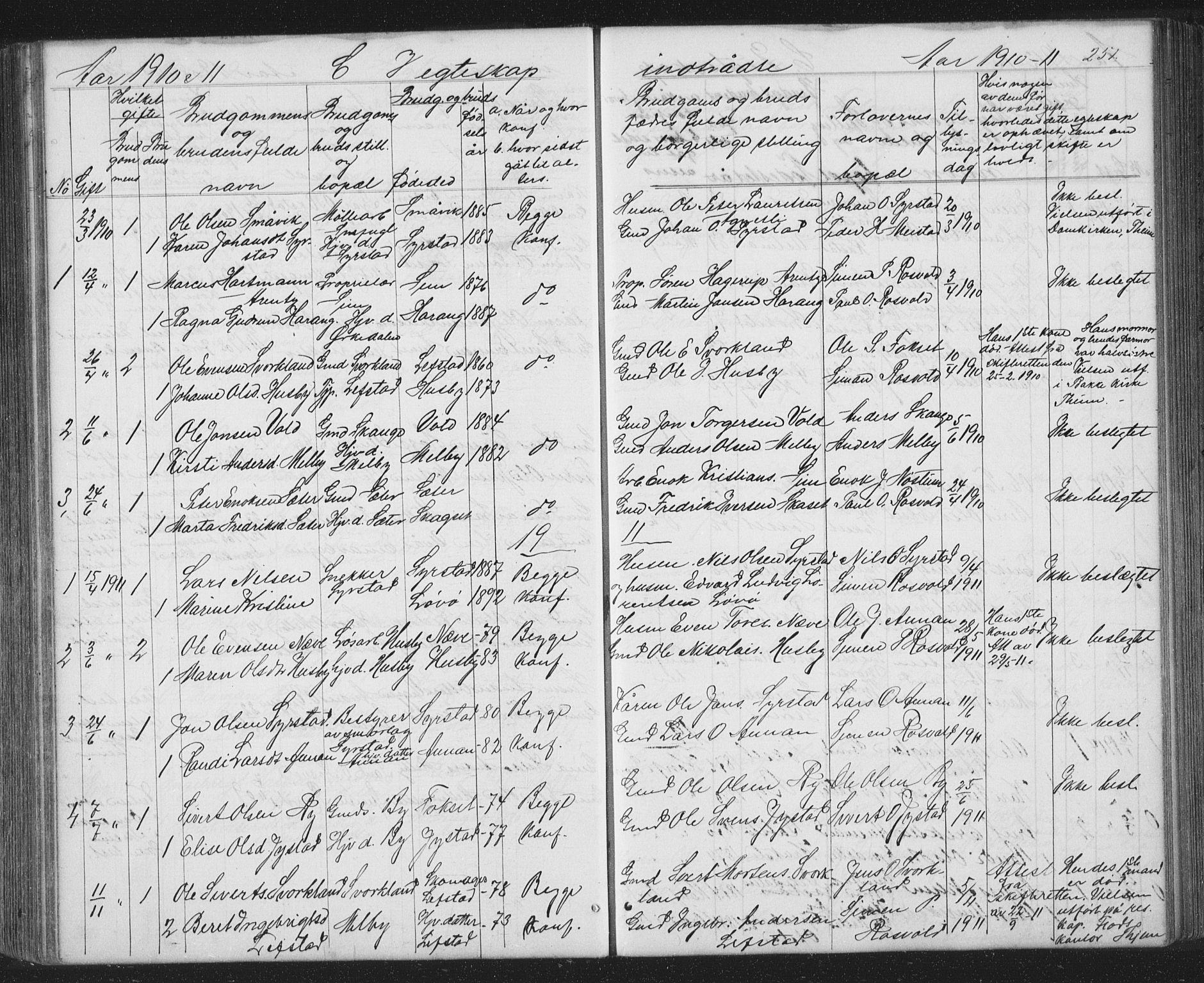 SAT, Ministerialprotokoller, klokkerbøker og fødselsregistre - Sør-Trøndelag, 667/L0798: Klokkerbok nr. 667C03, 1867-1929, s. 251