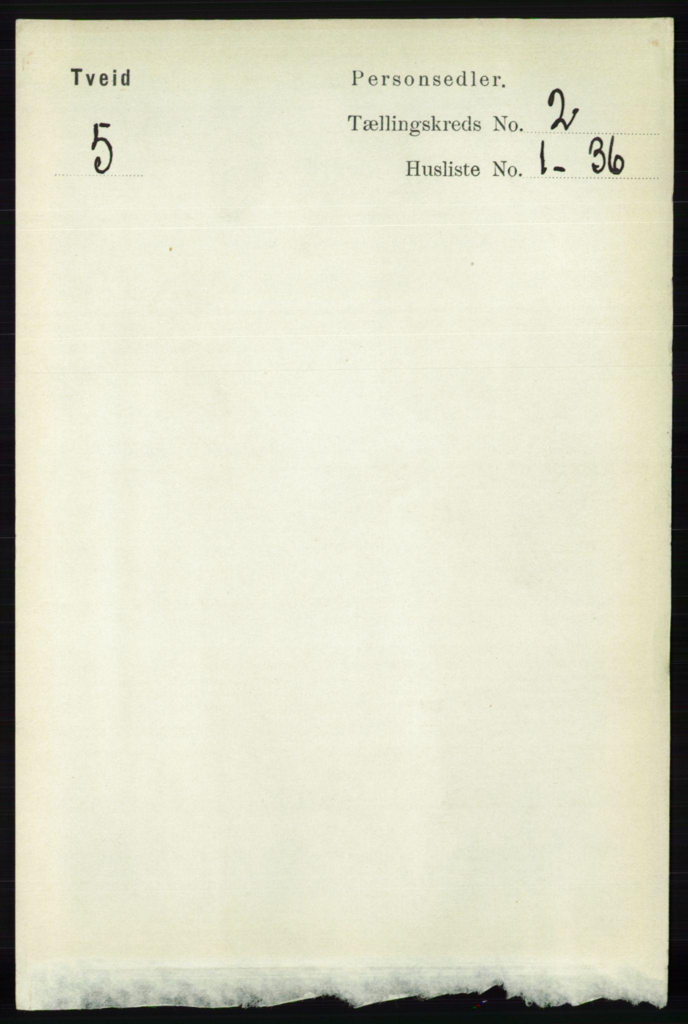 RA, Folketelling 1891 for 1013 Tveit herred, 1891, s. 521