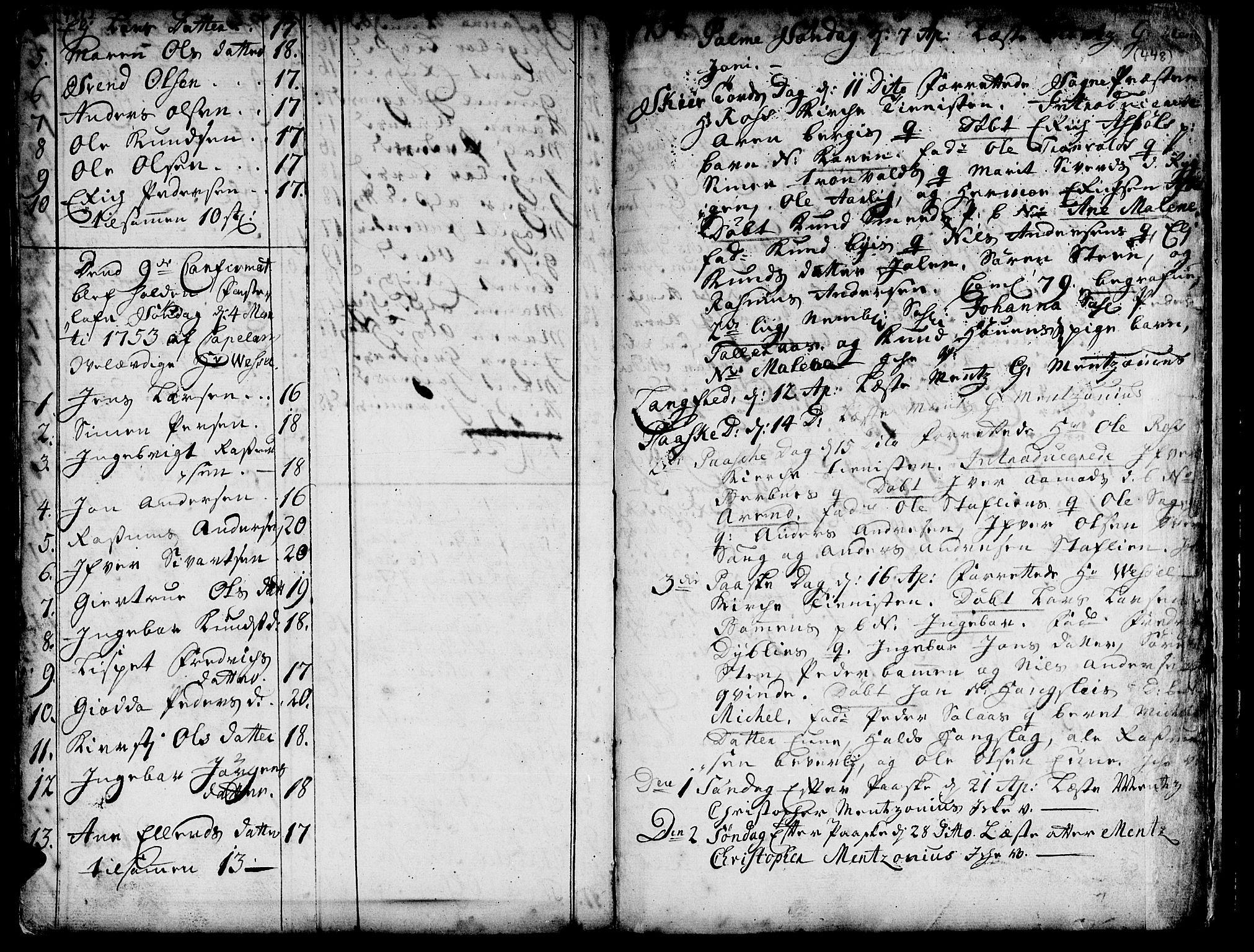 SAT, Ministerialprotokoller, klokkerbøker og fødselsregistre - Sør-Trøndelag, 671/L0839: Ministerialbok nr. 671A01, 1730-1755, s. 447-448