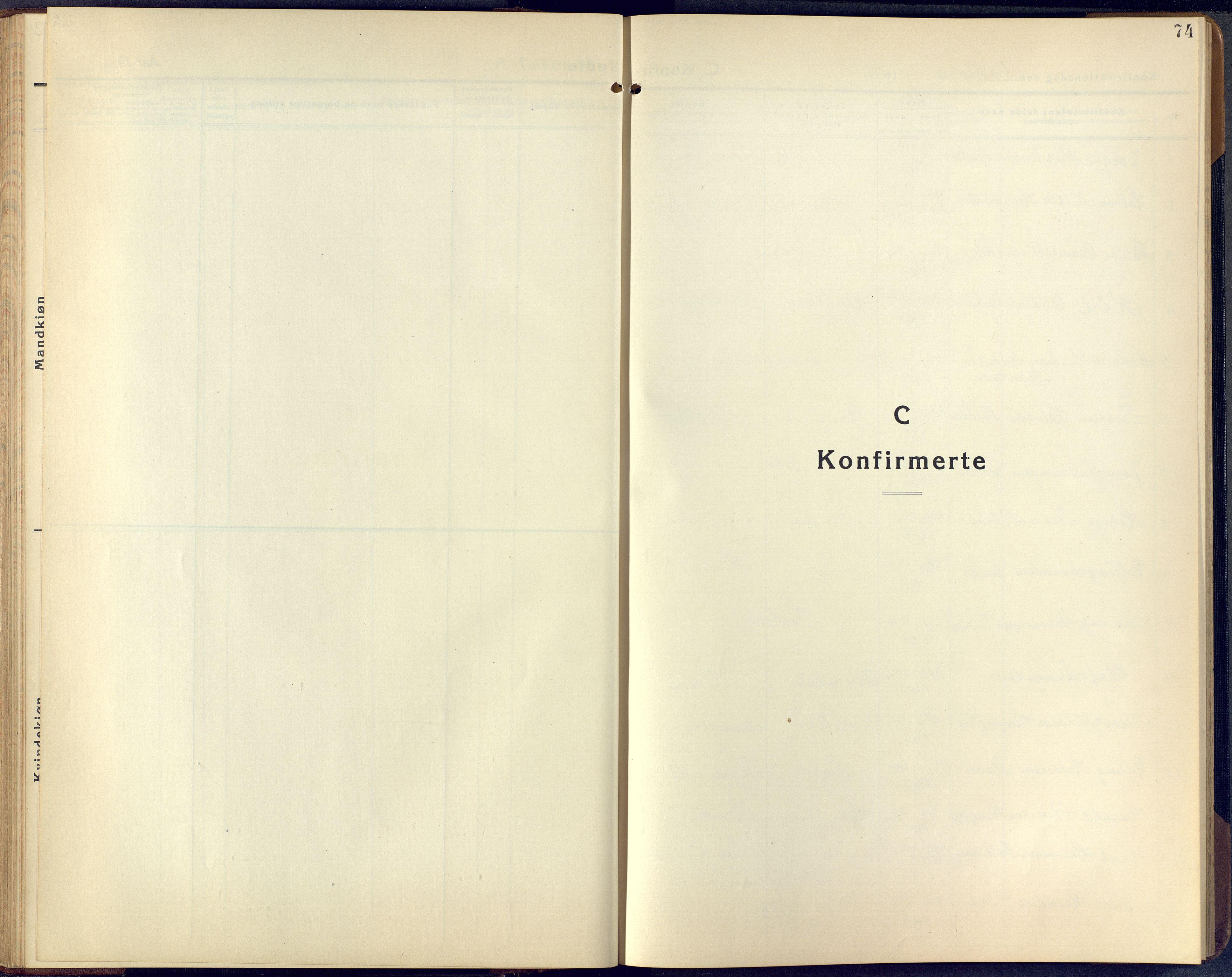 SAKO, Lunde kirkebøker, F/Fa/L0006: Ministerialbok nr. I 6, 1922-1940, s. 74