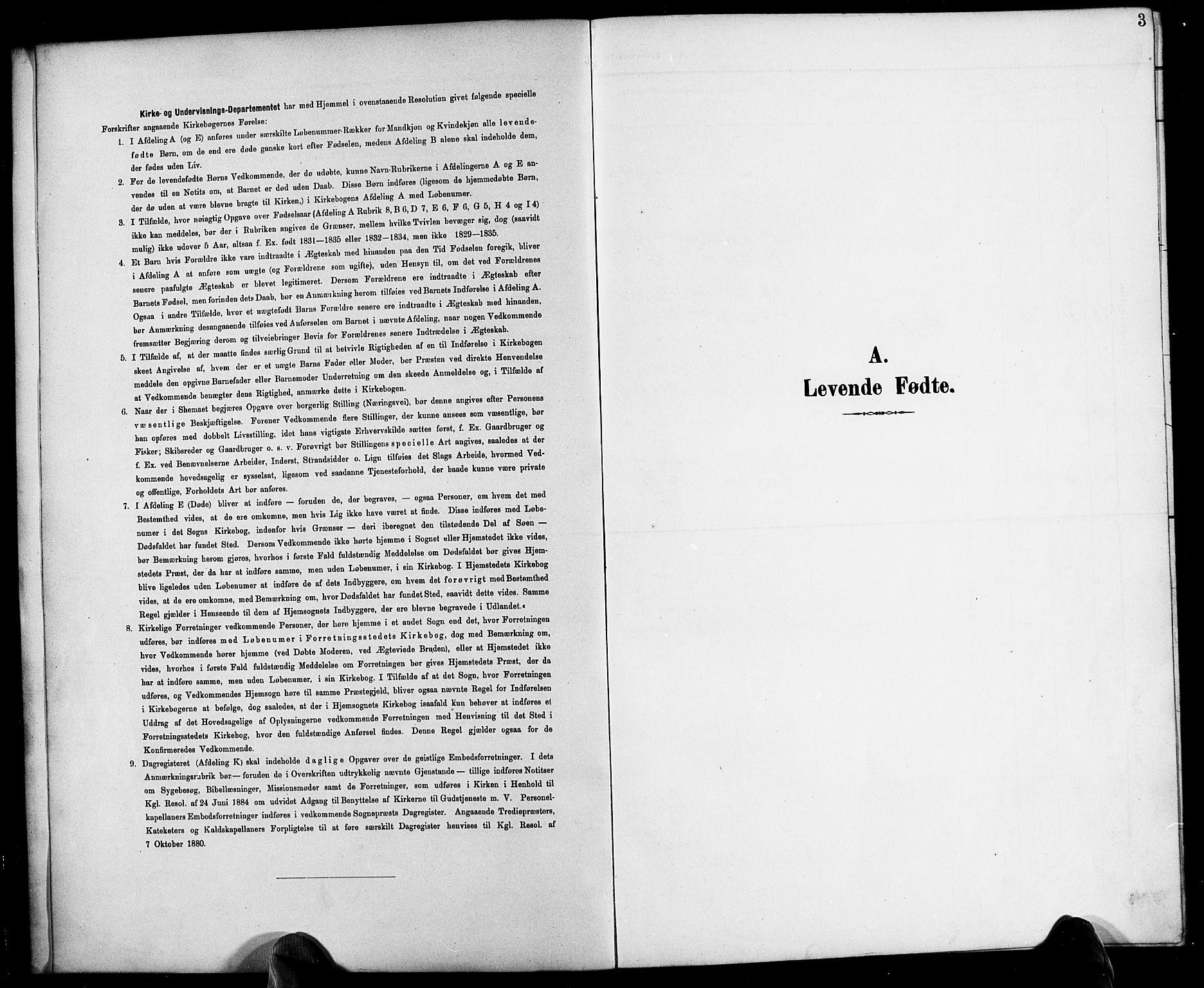 SAK, Herefoss sokneprestkontor, F/Fb/Fbb/L0003: Klokkerbok nr. B 3, 1892-1917, s. 3