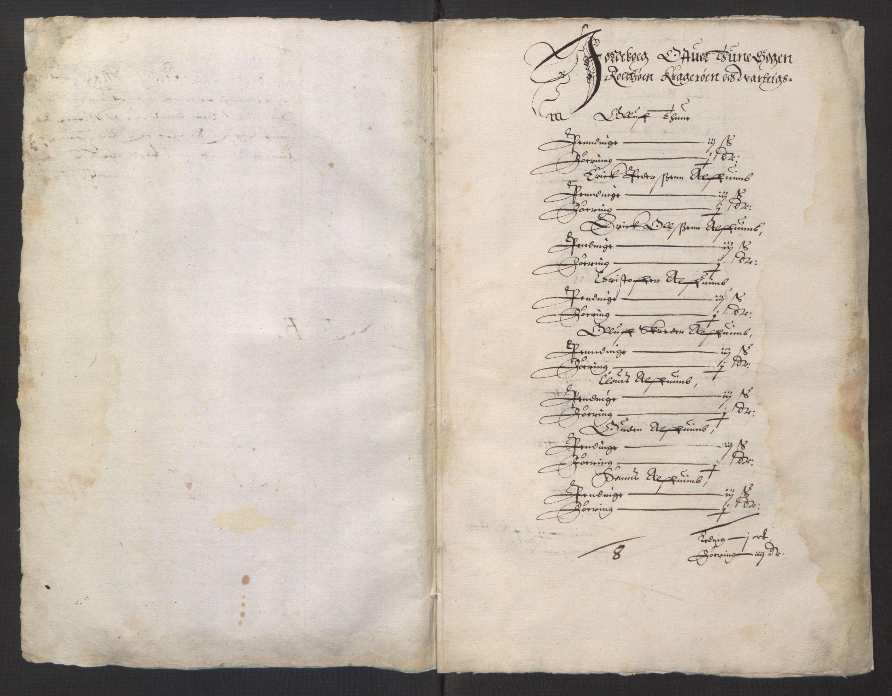 RA, Stattholderembetet 1572-1771, Ek/L0001: Jordebøker før 1624 og til utligning av garnisonsskatt 1624-1626:, 1624-1625, s. 205