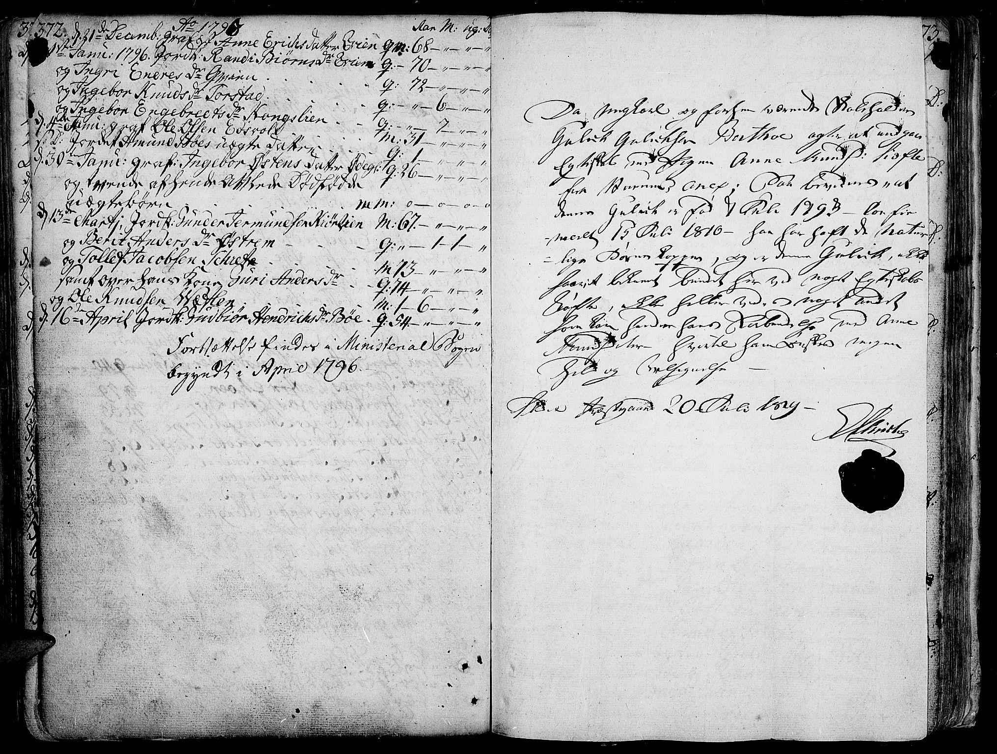 SAH, Vang prestekontor, Valdres, Ministerialbok nr. 1, 1730-1796, s. 372