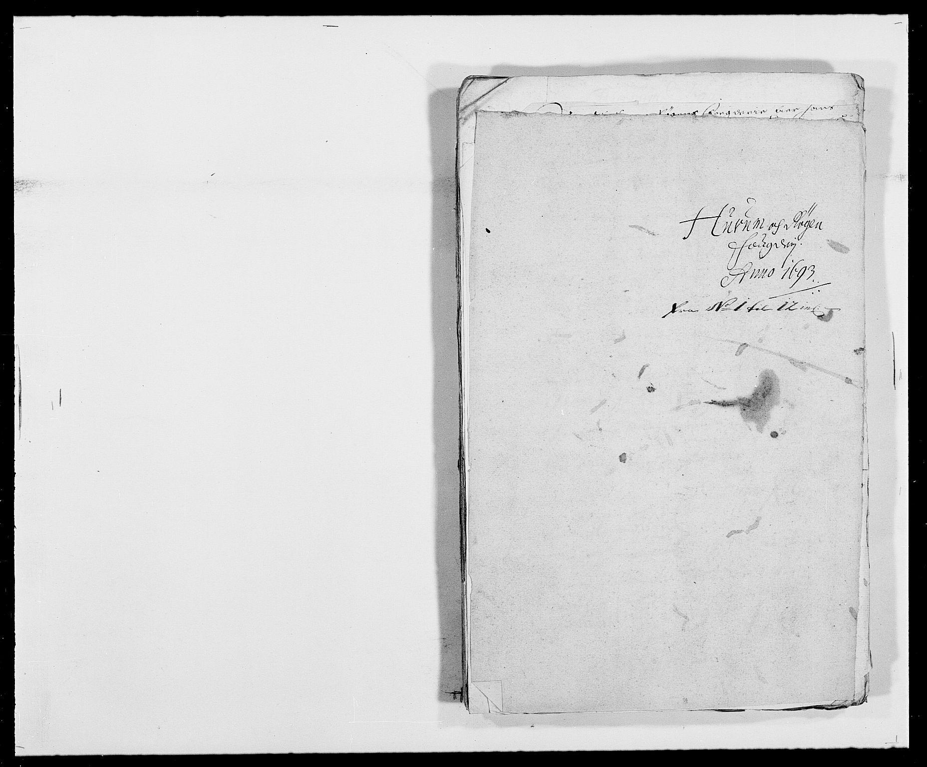 RA, Rentekammeret inntil 1814, Reviderte regnskaper, Fogderegnskap, R29/L1693: Fogderegnskap Hurum og Røyken, 1688-1693, s. 483