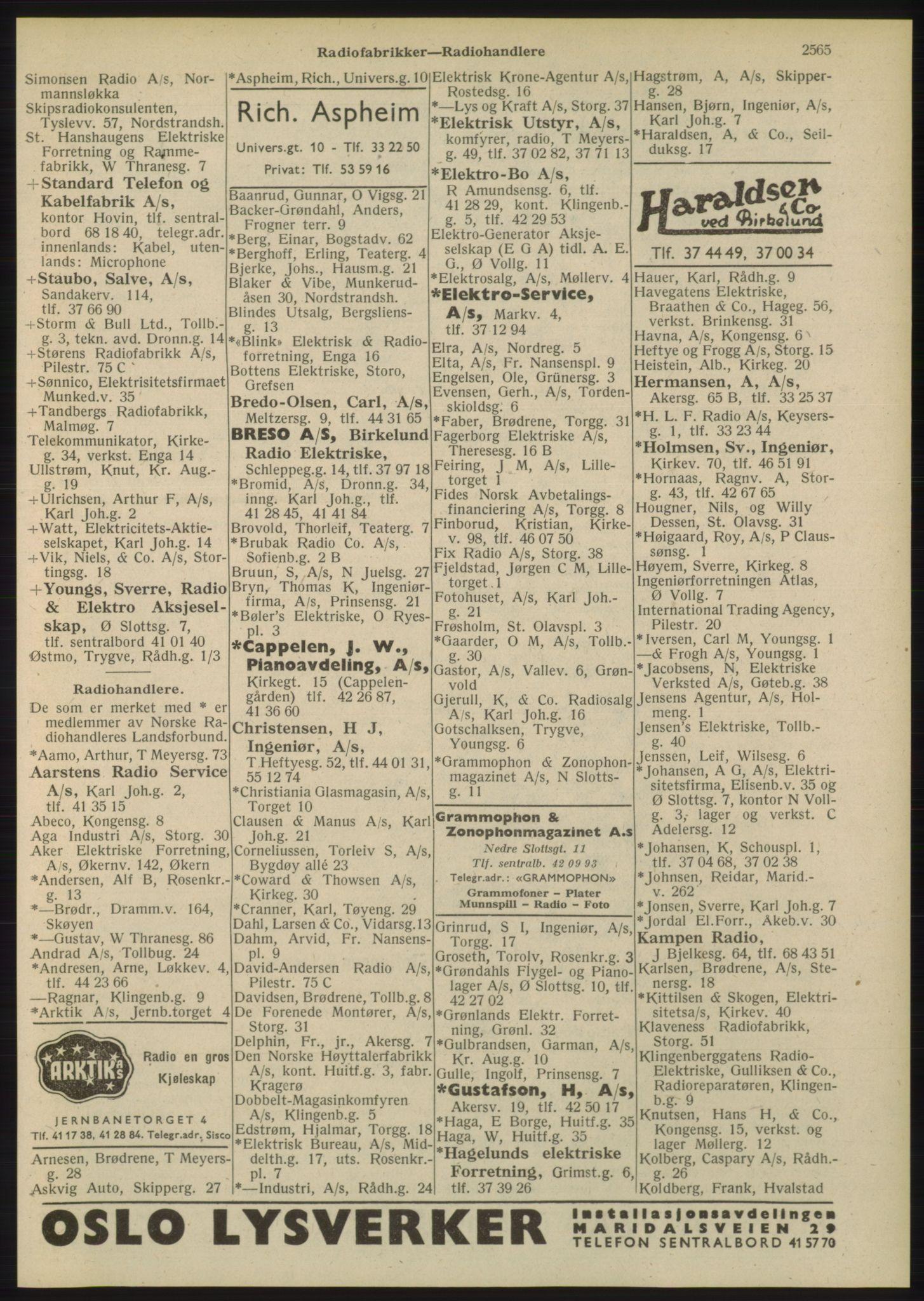 PUBL, Kristiania/Oslo adressebok, 1948, s. 2565