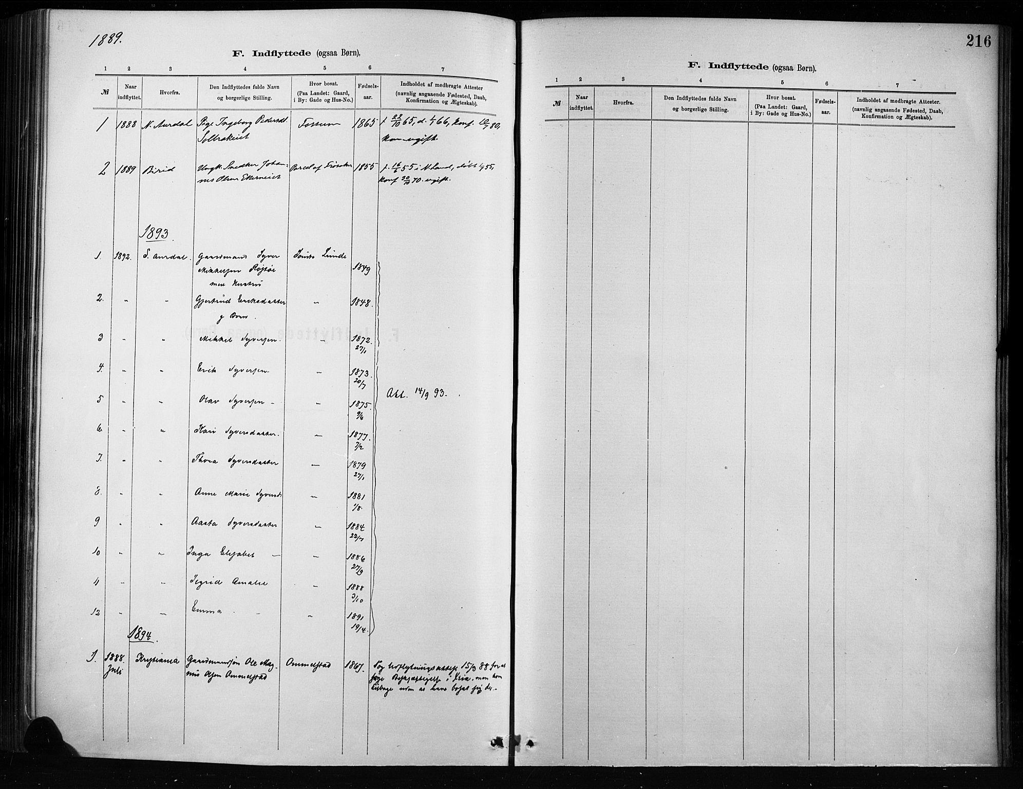 SAH, Nordre Land prestekontor, Ministerialbok nr. 4, 1882-1896, s. 216