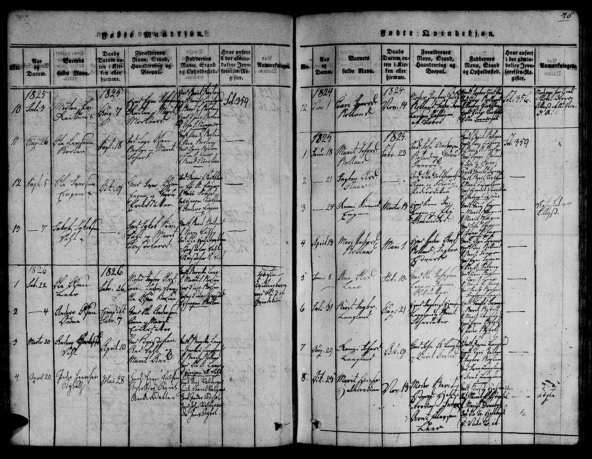 SAT, Ministerialprotokoller, klokkerbøker og fødselsregistre - Sør-Trøndelag, 691/L1066: Ministerialbok nr. 691A03 /2, 1816-1826, s. 75