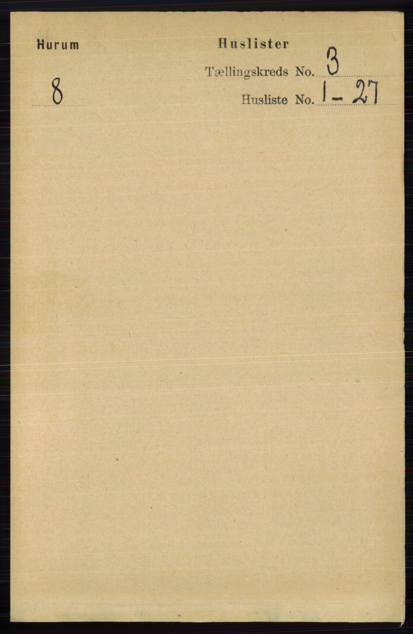 RA, Folketelling 1891 for 0628 Hurum herred, 1891, s. 918