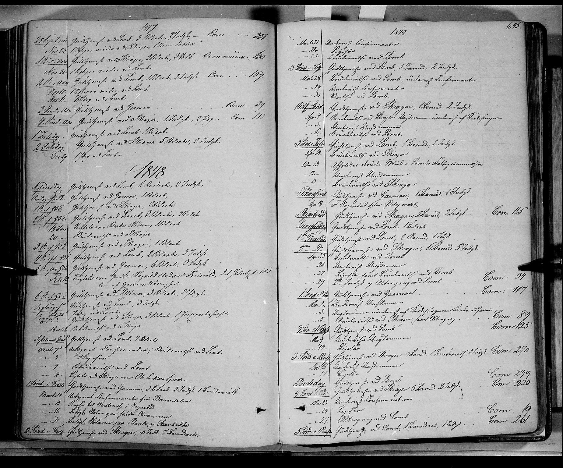 SAH, Lom prestekontor, K/L0006: Ministerialbok nr. 6B, 1837-1863, s. 645