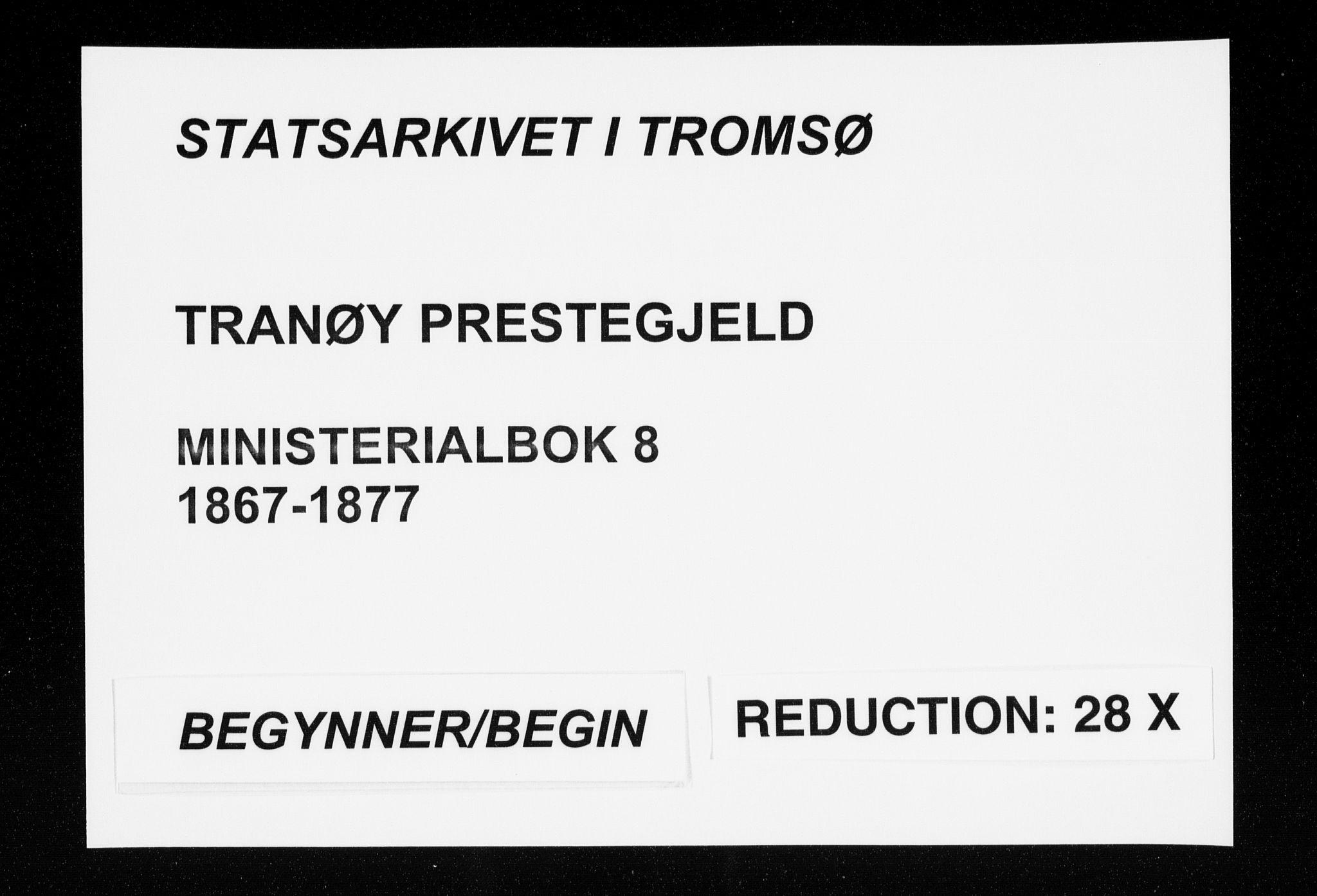 SATØ, Tranøy sokneprestkontor, I/Ia/Iaa/L0008kirke: Ministerialbok nr. 8, 1867-1877