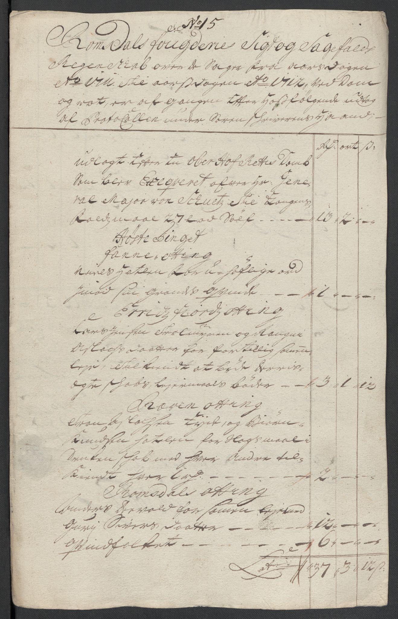 RA, Rentekammeret inntil 1814, Reviderte regnskaper, Fogderegnskap, R55/L3660: Fogderegnskap Romsdal, 1711, s. 342
