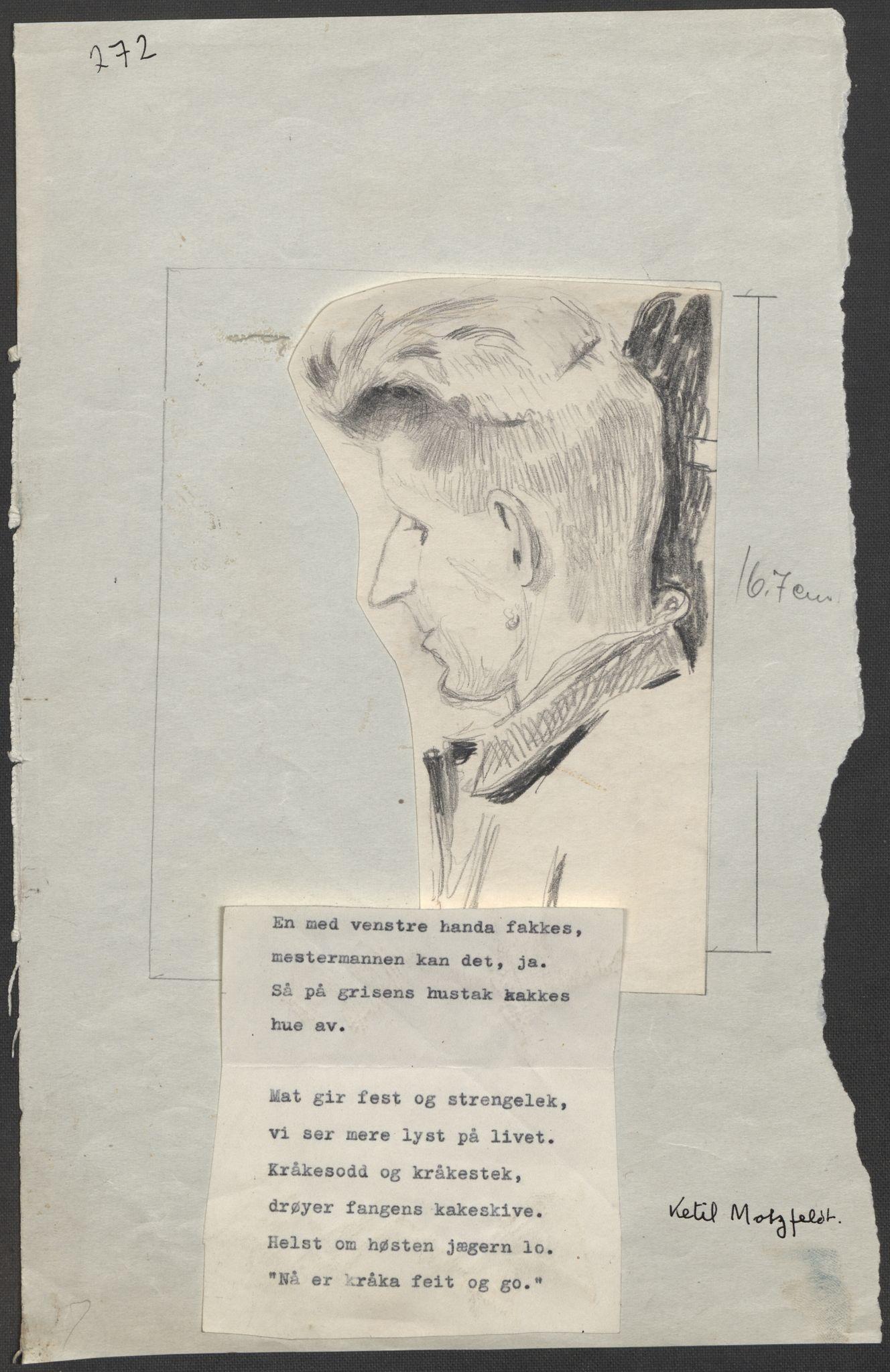 RA, Grøgaard, Joachim, F/L0002: Tegninger og tekster, 1942-1945, s. 23