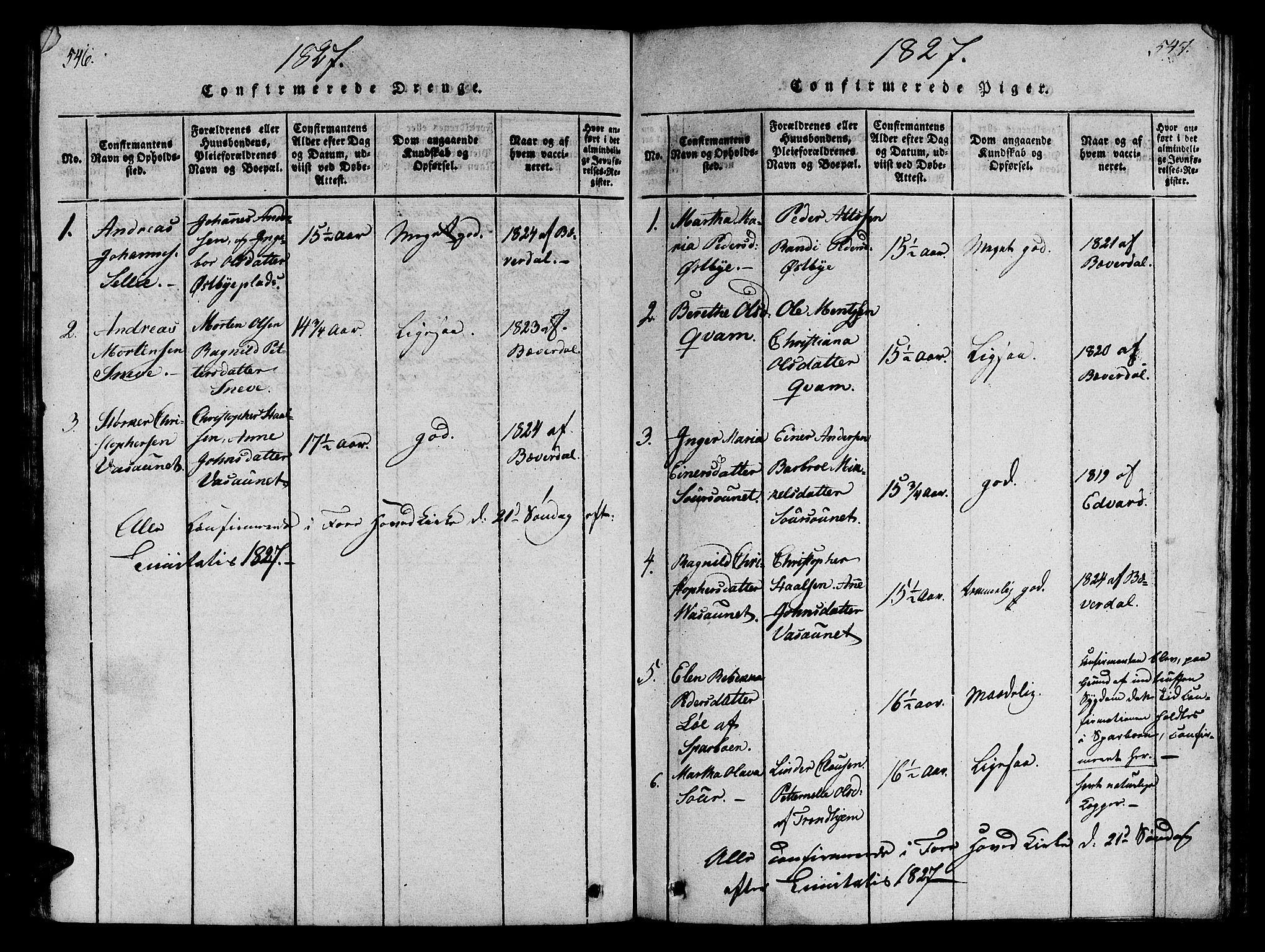SAT, Ministerialprotokoller, klokkerbøker og fødselsregistre - Nord-Trøndelag, 746/L0441: Ministerialbok nr. 736A03 /3, 1816-1827, s. 546-547