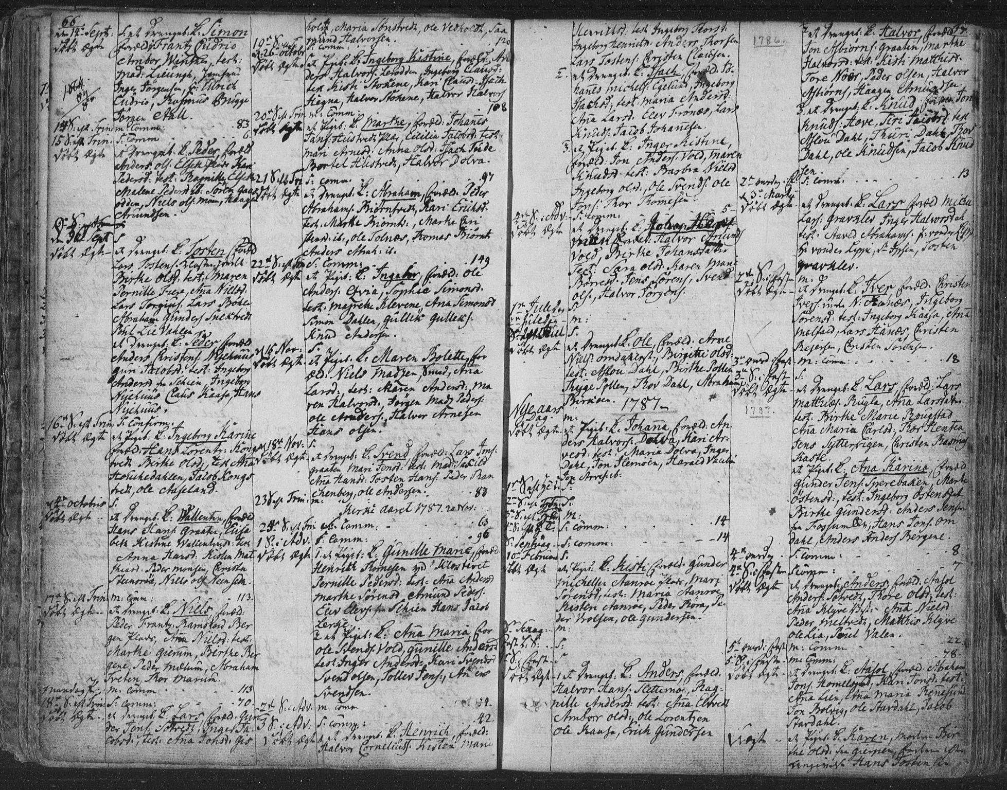 SAKO, Solum kirkebøker, F/Fa/L0003: Ministerialbok nr. I 3, 1761-1814, s. 66-67