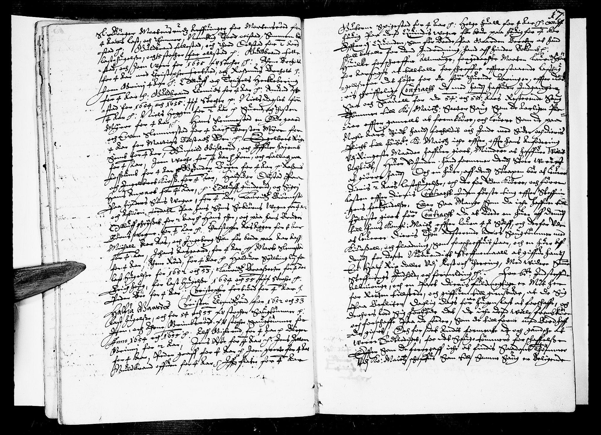 SAKO, Lier, Røyken og Hurum sorenskriveri, F/Fa/L0001: Tingbok, 1655-1658, s. 17