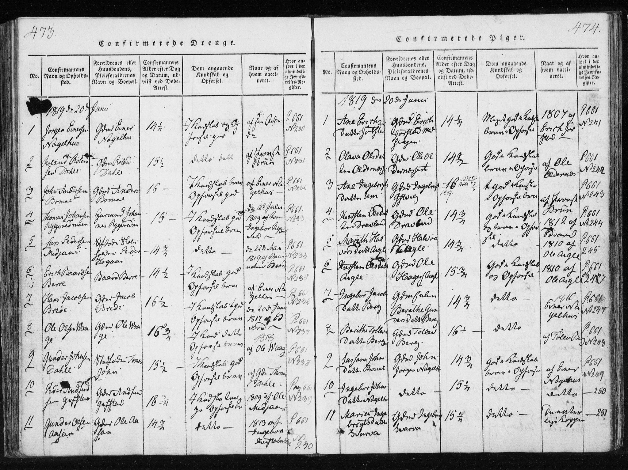 SAT, Ministerialprotokoller, klokkerbøker og fødselsregistre - Nord-Trøndelag, 749/L0469: Ministerialbok nr. 749A03, 1817-1857, s. 473-474