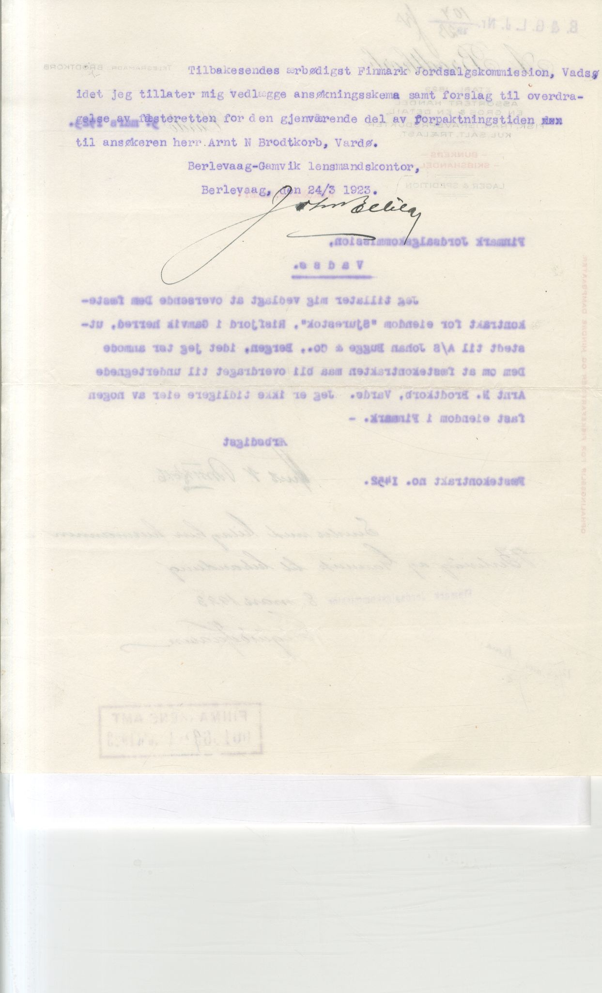 VAMU, Brodtkorb handel A/S, Q/Qb/L0003: Faste eiendommer i Vardø Herred, 1862-1939, s. 381