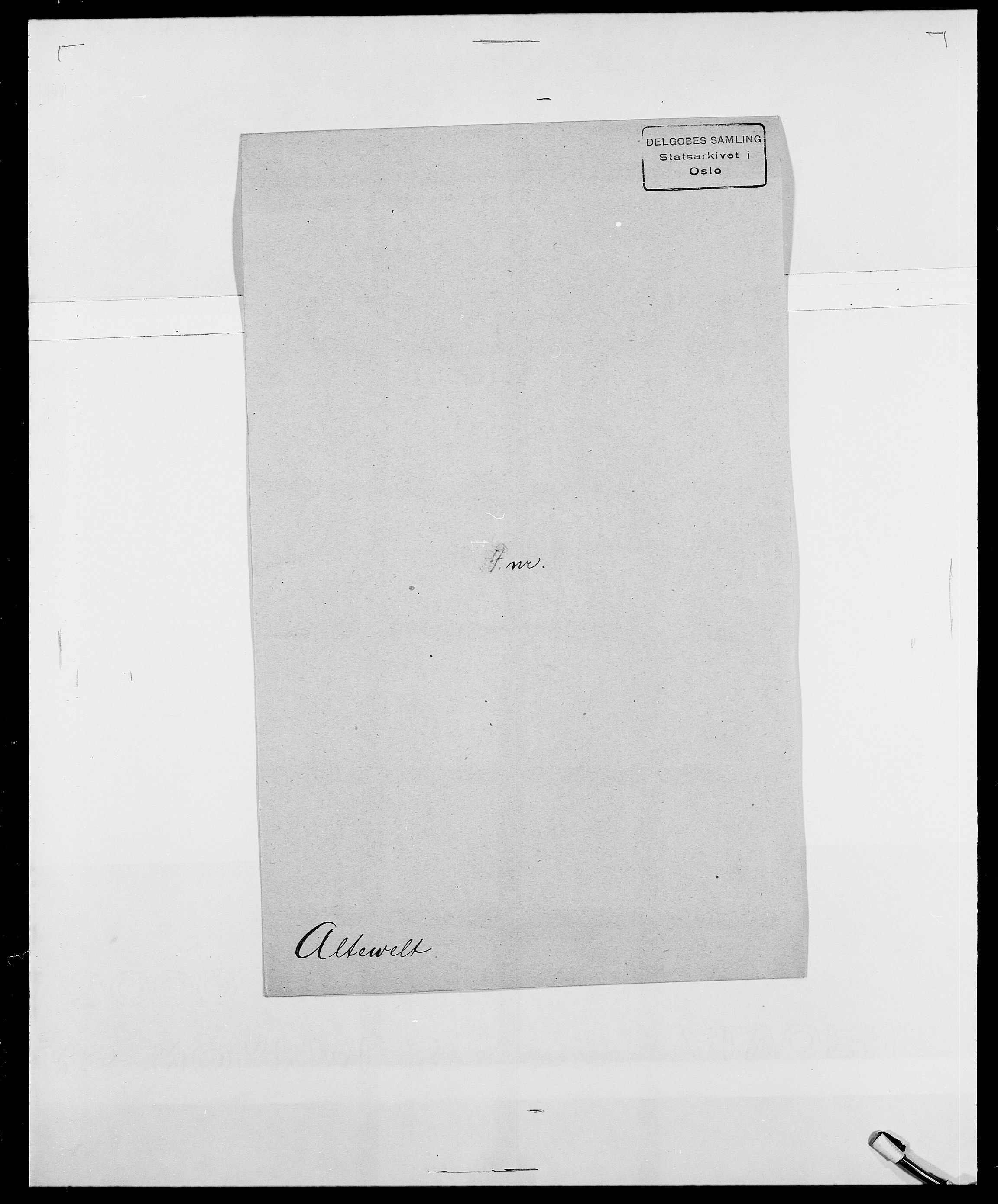 SAO, Delgobe, Charles Antoine - samling, D/Da/L0001: Aabye - Angerman, s. 487