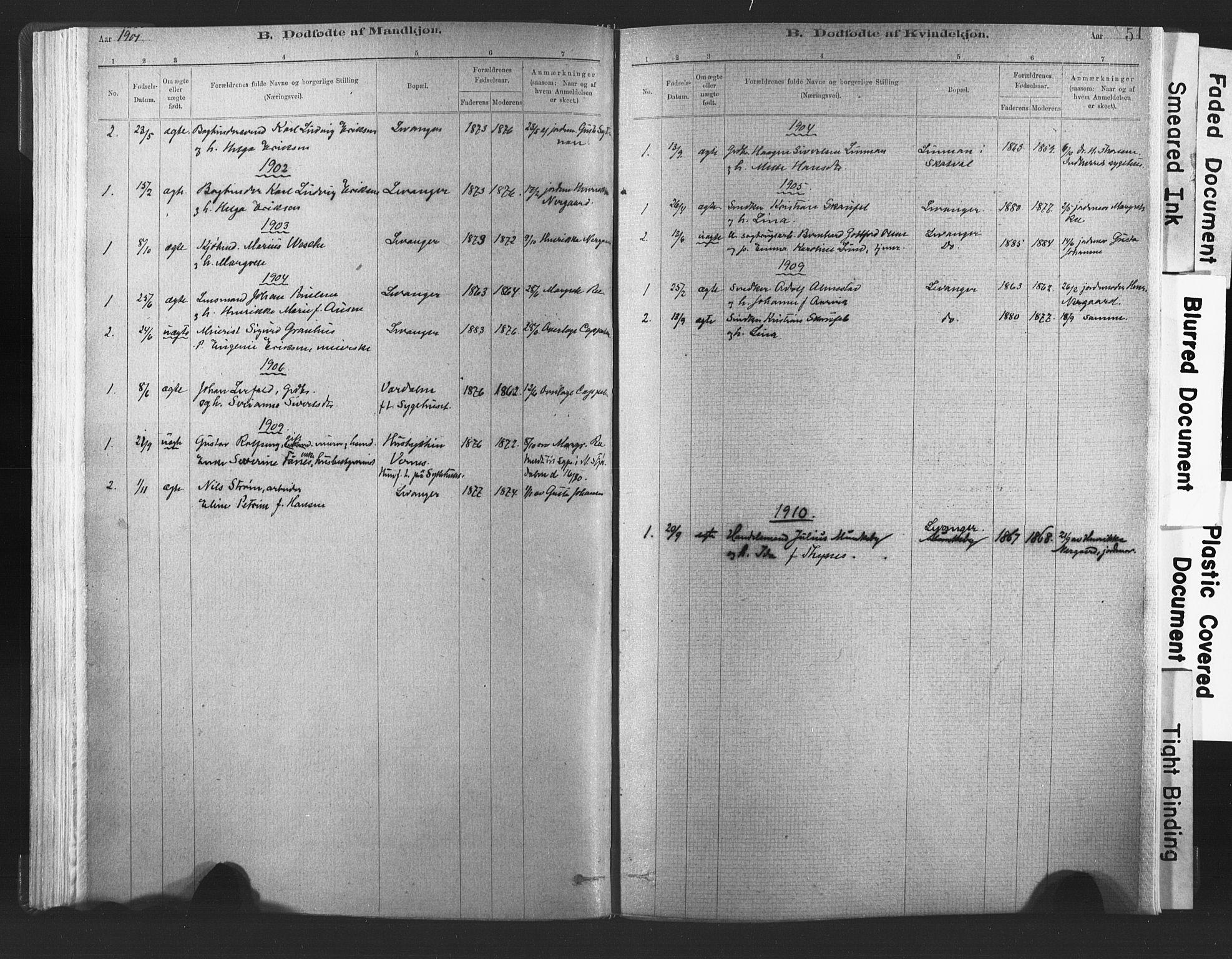SAT, Ministerialprotokoller, klokkerbøker og fødselsregistre - Nord-Trøndelag, 720/L0189: Ministerialbok nr. 720A05, 1880-1911, s. 51