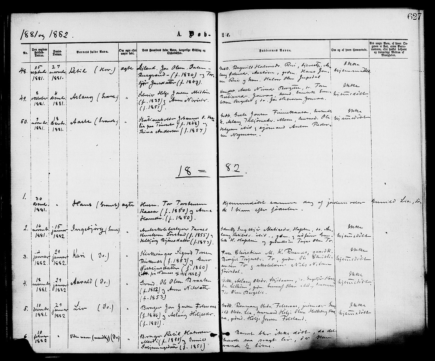 SAKO, Gransherad kirkebøker, F/Fa/L0004: Ministerialbok nr. I 4, 1871-1886, s. 62