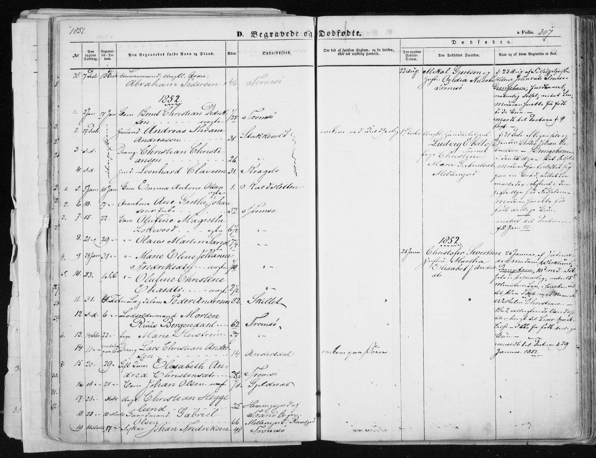 SATØ, Tromsø sokneprestkontor/stiftsprosti/domprosti, G/Ga/L0010kirke: Ministerialbok nr. 10, 1848-1855, s. 307