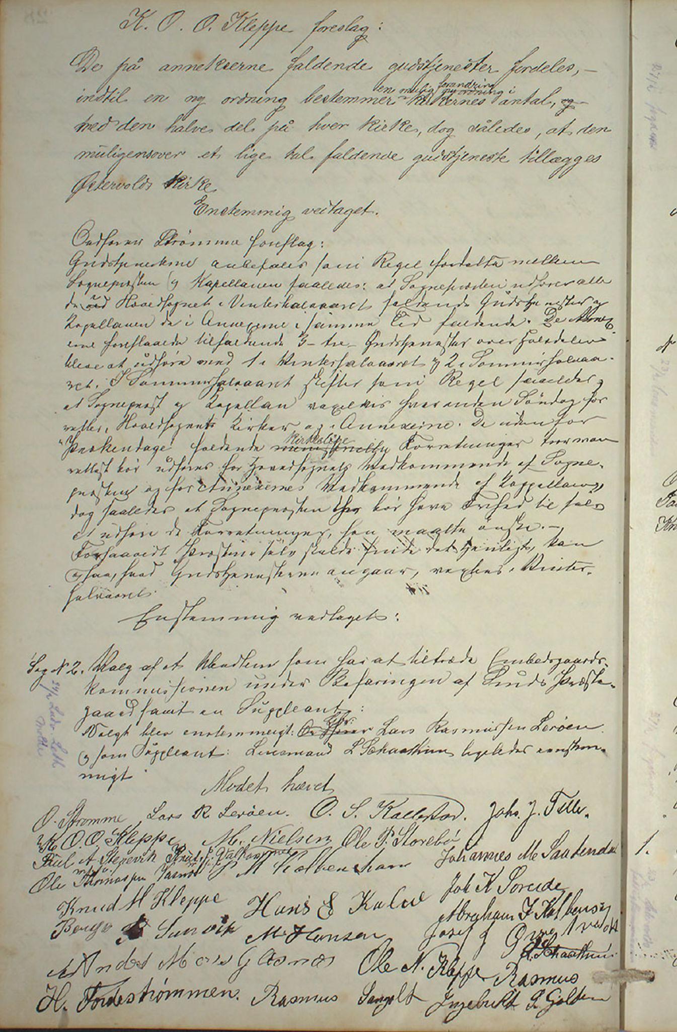 IKAH, Austevoll kommune. Formannskapet, A/Aa/L0001: Østervolds Herredsforhandlings-protokoll, 1886-1900, s. 57