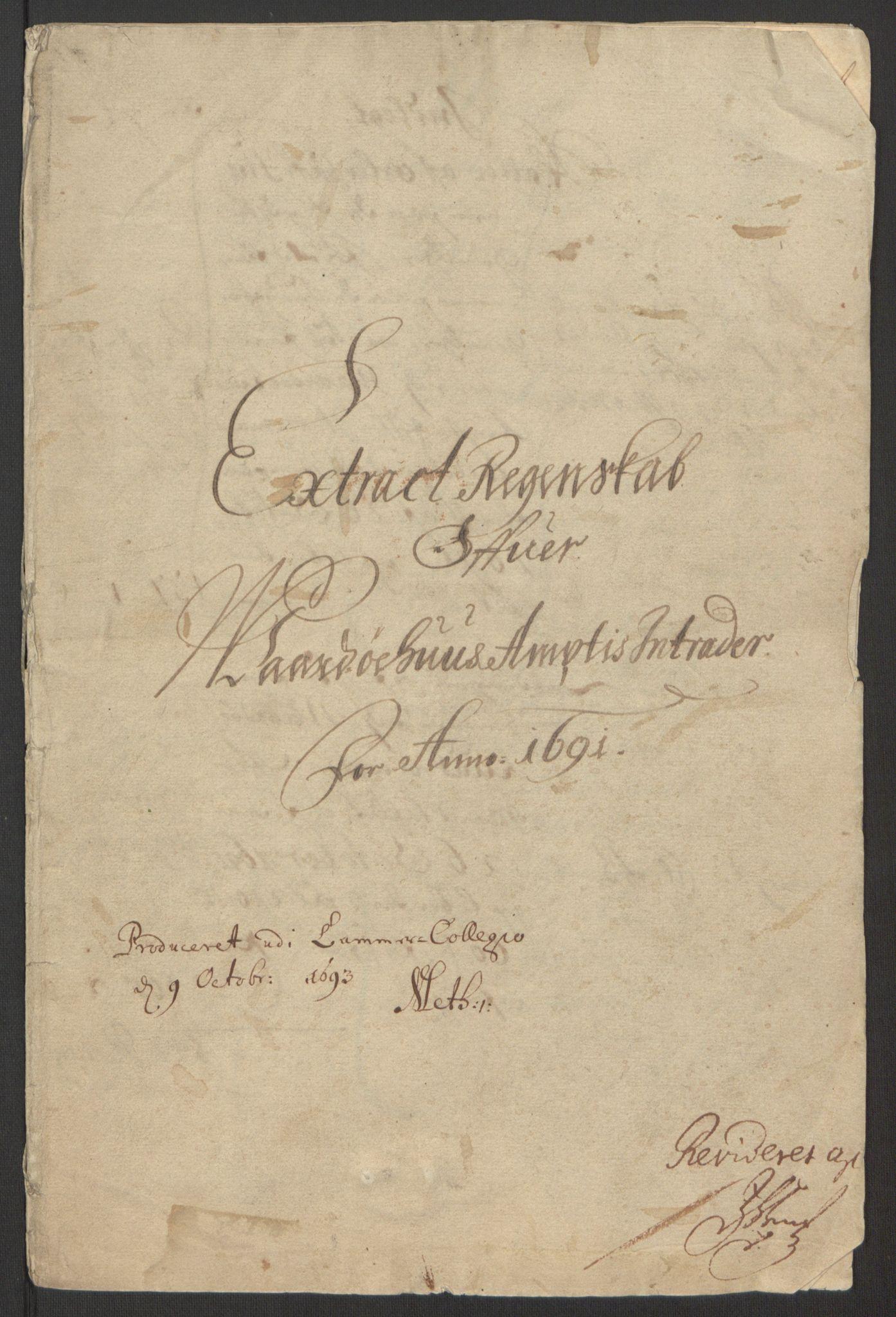 RA, Rentekammeret inntil 1814, Reviderte regnskaper, Fogderegnskap, R69/L4851: Fogderegnskap Finnmark/Vardøhus, 1691-1700, s. 3