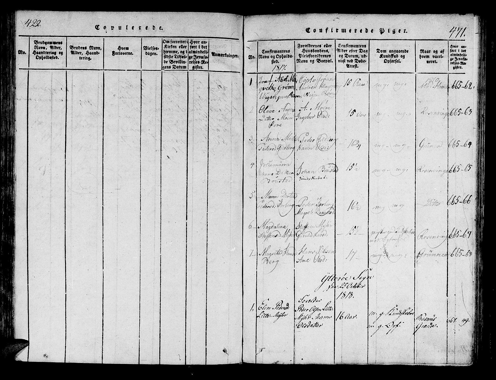SAT, Ministerialprotokoller, klokkerbøker og fødselsregistre - Nord-Trøndelag, 722/L0217: Ministerialbok nr. 722A04, 1817-1842, s. 422-471
