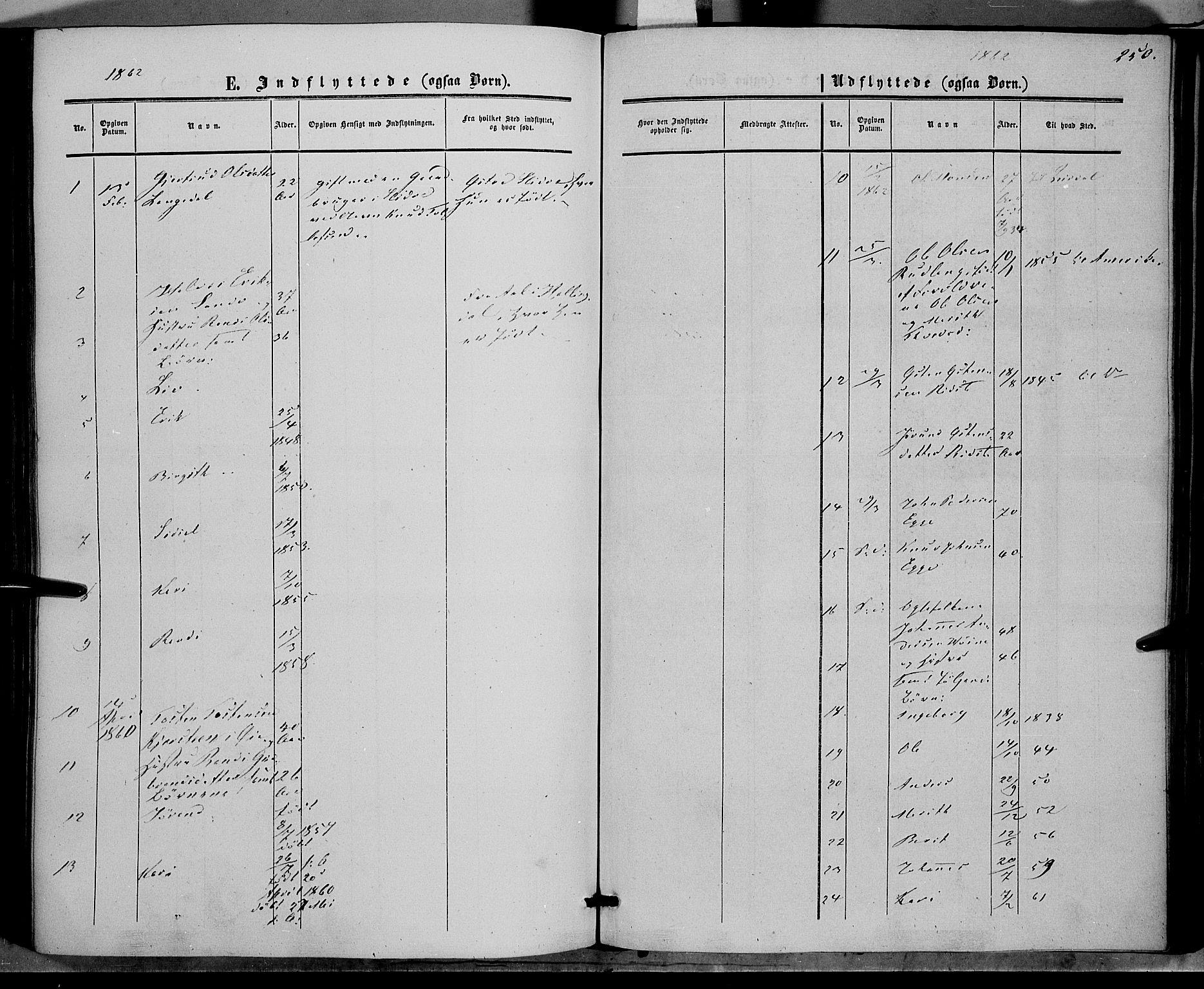 SAH, Vestre Slidre prestekontor, Ministerialbok nr. 2, 1856-1864, s. 250