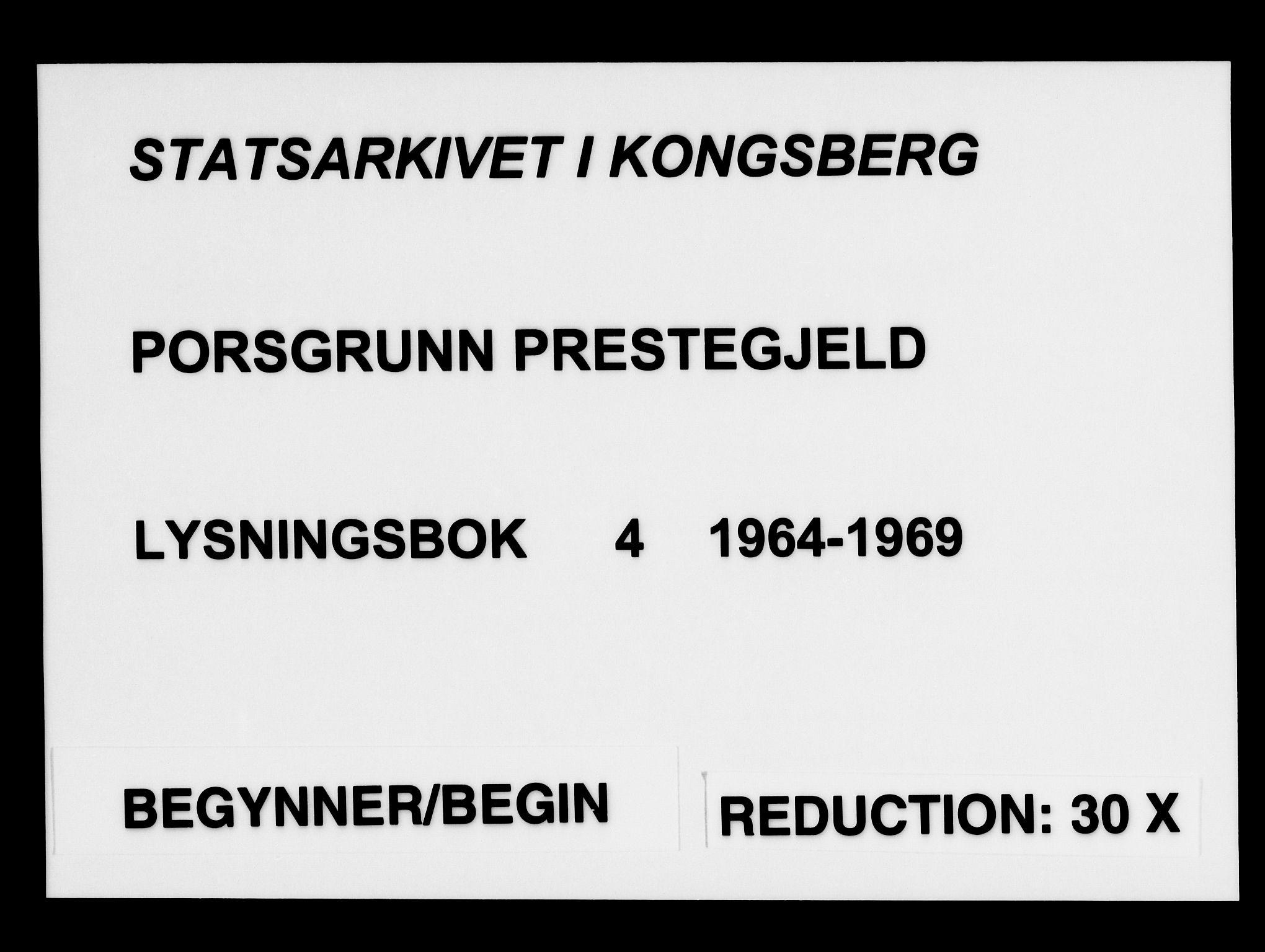 SAKO, Porsgrunn kirkebøker , H/Ha/L0004: Lysningsprotokoll nr. 4, 1964-1969
