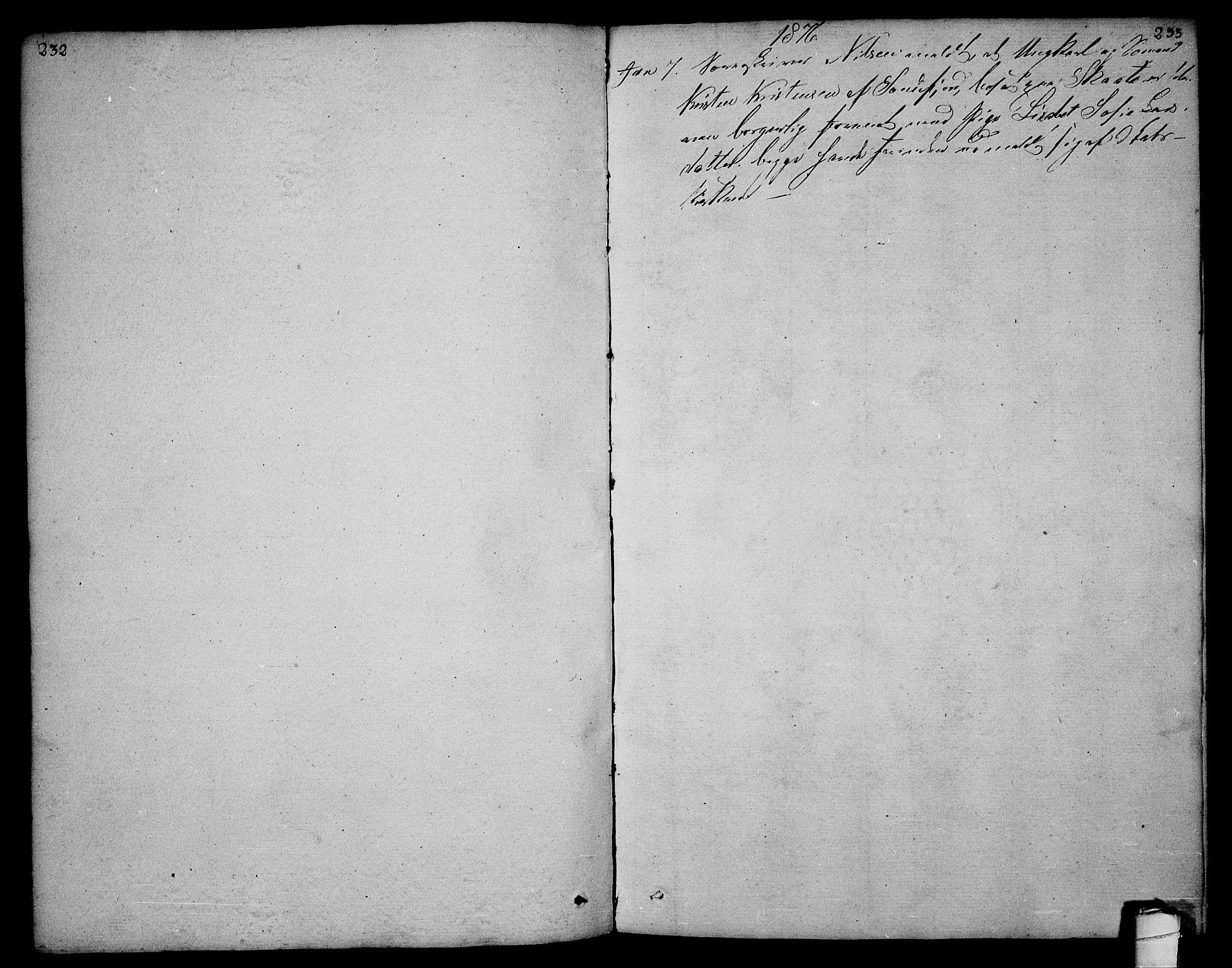 SAKO, Sannidal kirkebøker, F/Fa/L0003: Ministerialbok nr. 3, 1803-1813, s. 232-233
