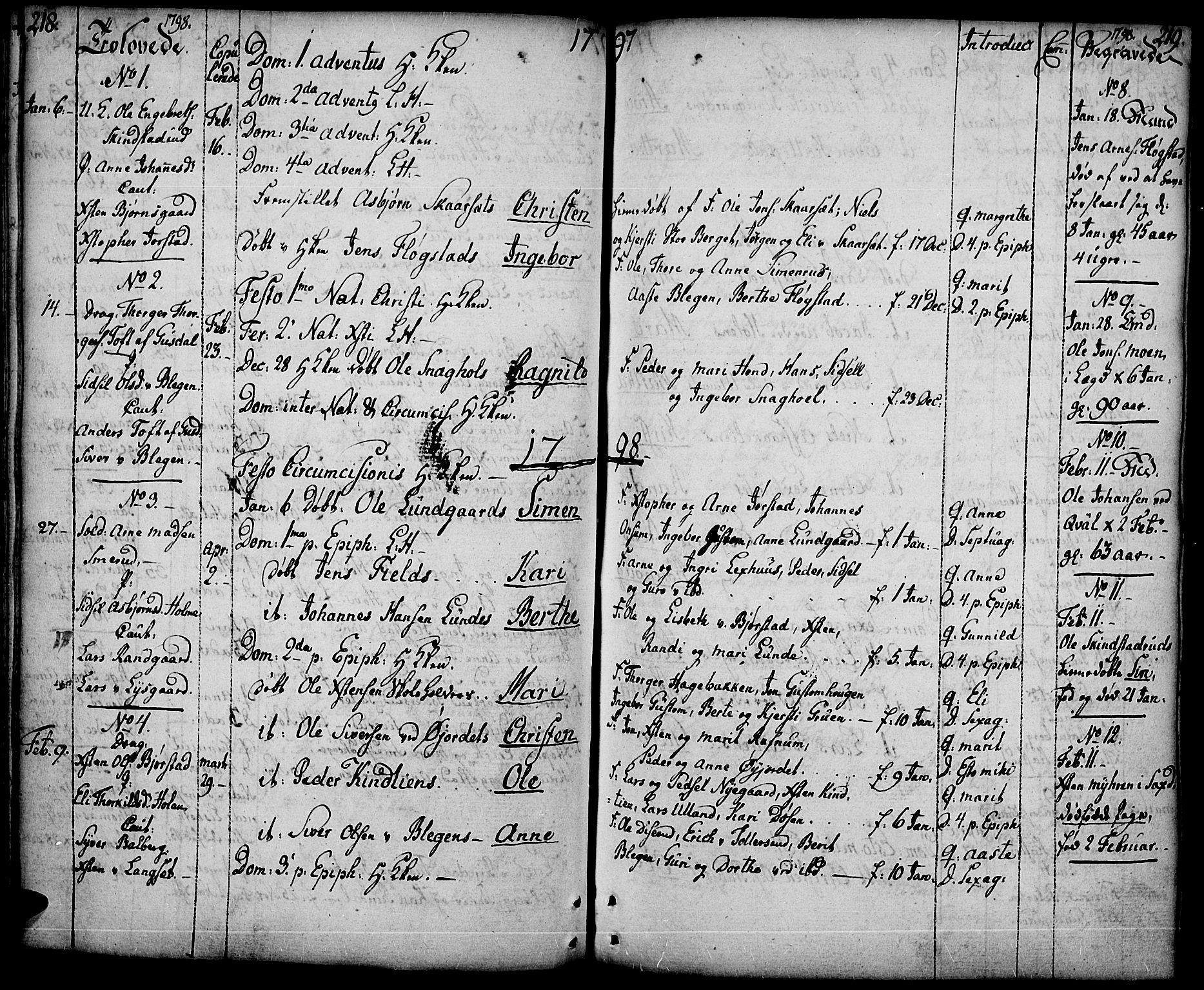 SAH, Fåberg prestekontor, Ministerialbok nr. 2, 1775-1818, s. 218-219