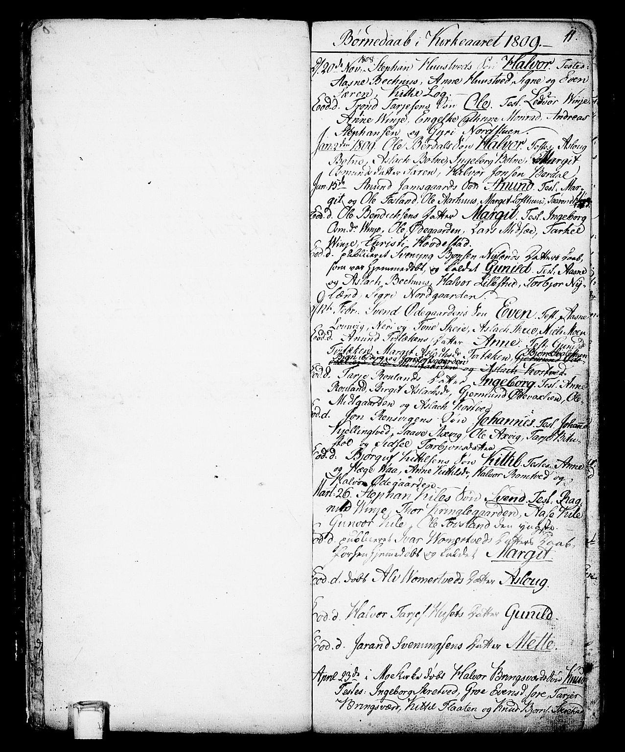 SAKO, Vinje kirkebøker, F/Fa/L0002: Ministerialbok nr. I 2, 1767-1814, s. 11