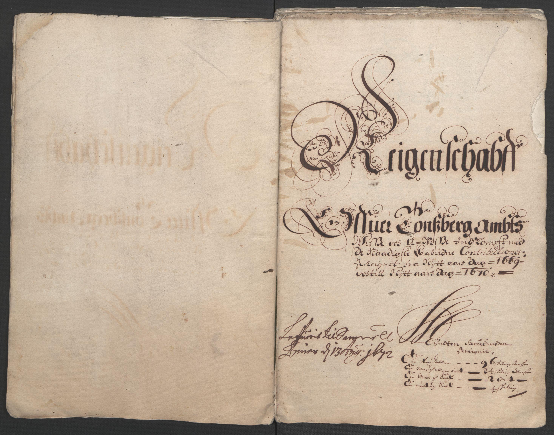RA, Rentekammeret inntil 1814, Reviderte regnskaper, Fogderegnskap, R32/L1842: Fogderegnskap Jarlsberg grevskap, 1664-1673, s. 231